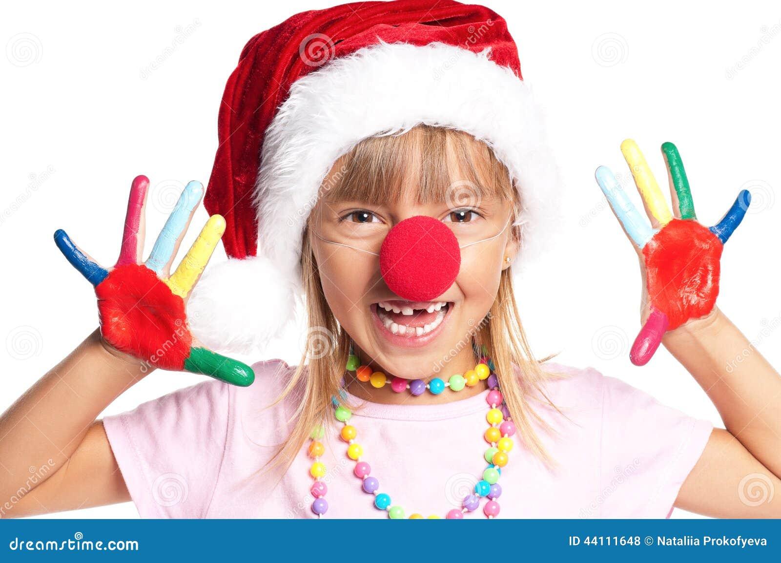 女孩帽子小的圣诞老人