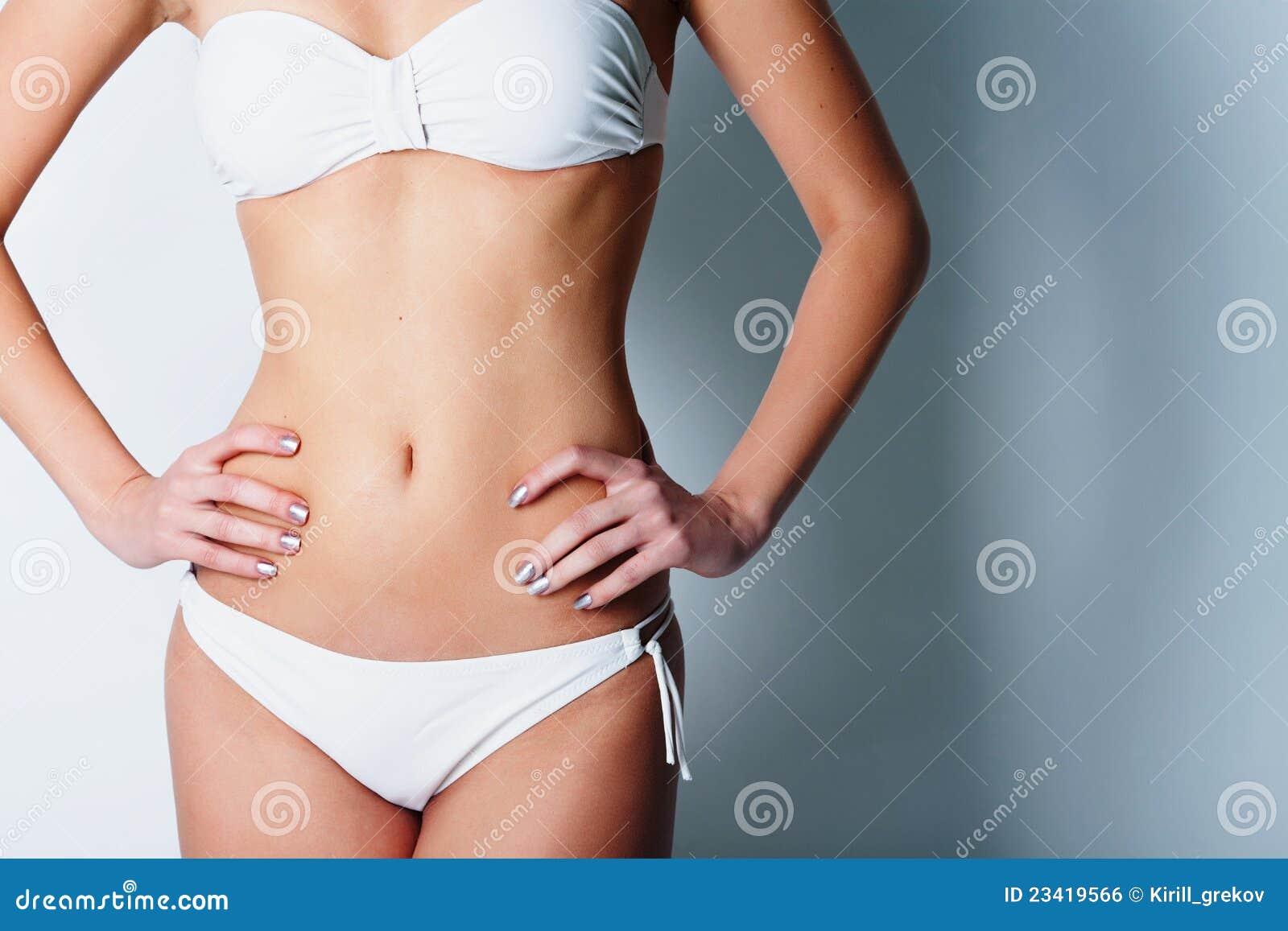 女孩内衣白色 免版税库存图片