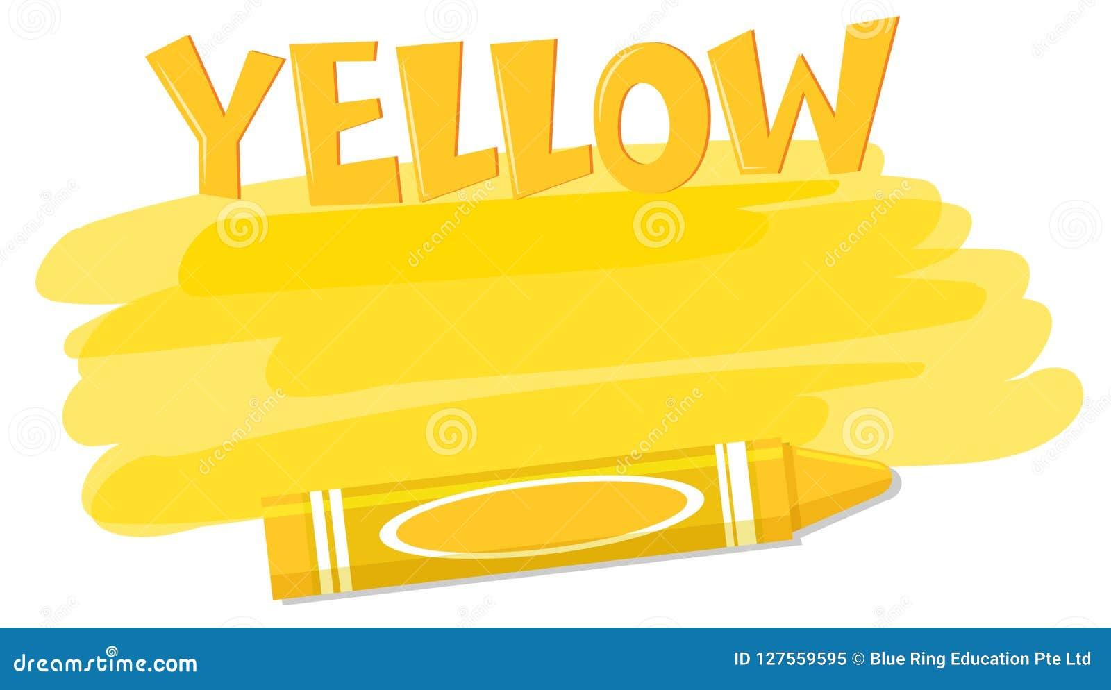 Żółta colour farba, kredka i