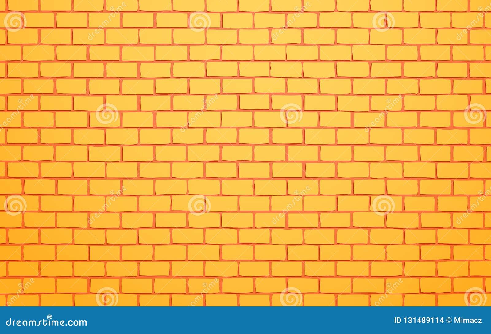 Żółtej ściany z cegieł wektorowy ilustracyjny tło