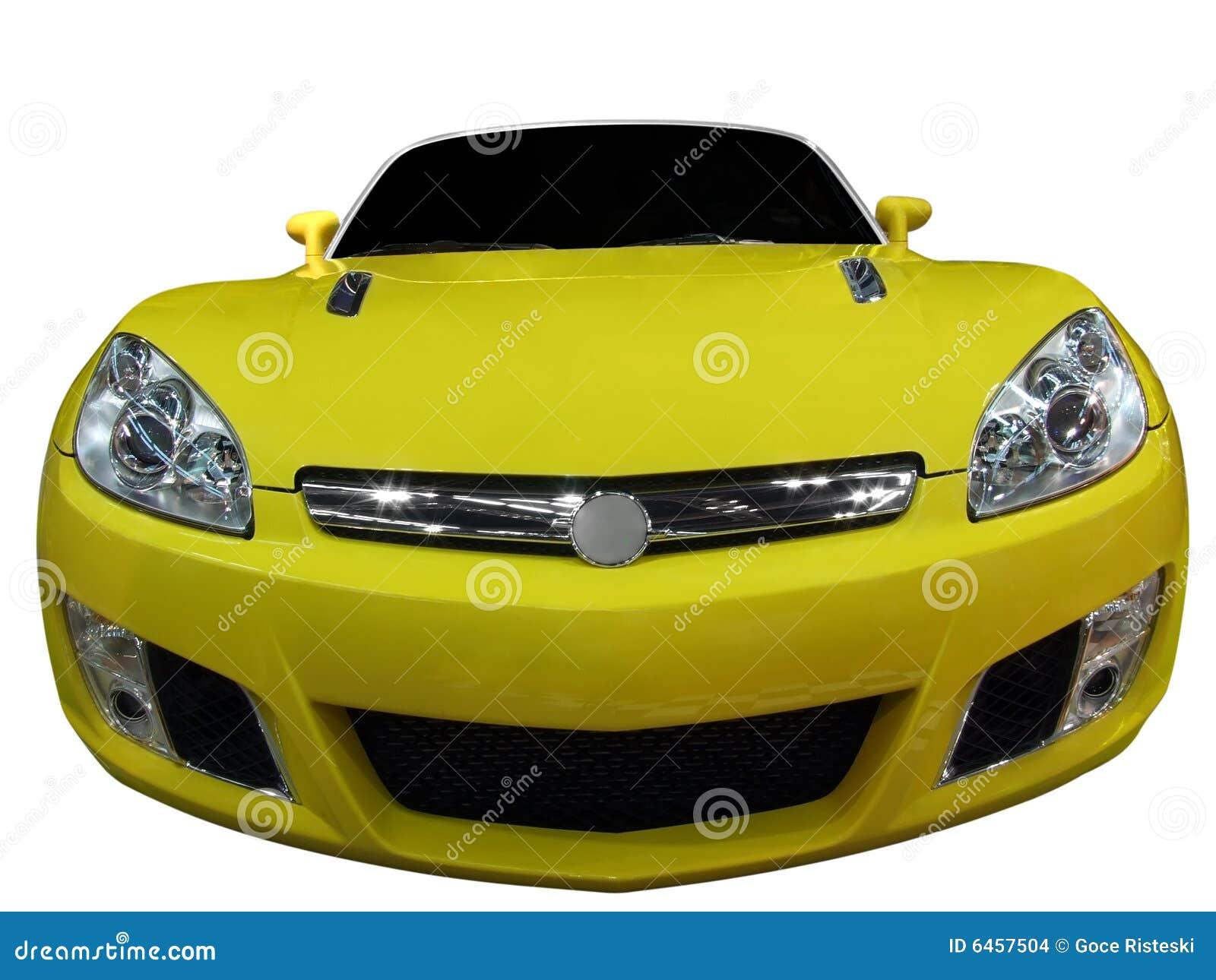 Żółty kabriolet