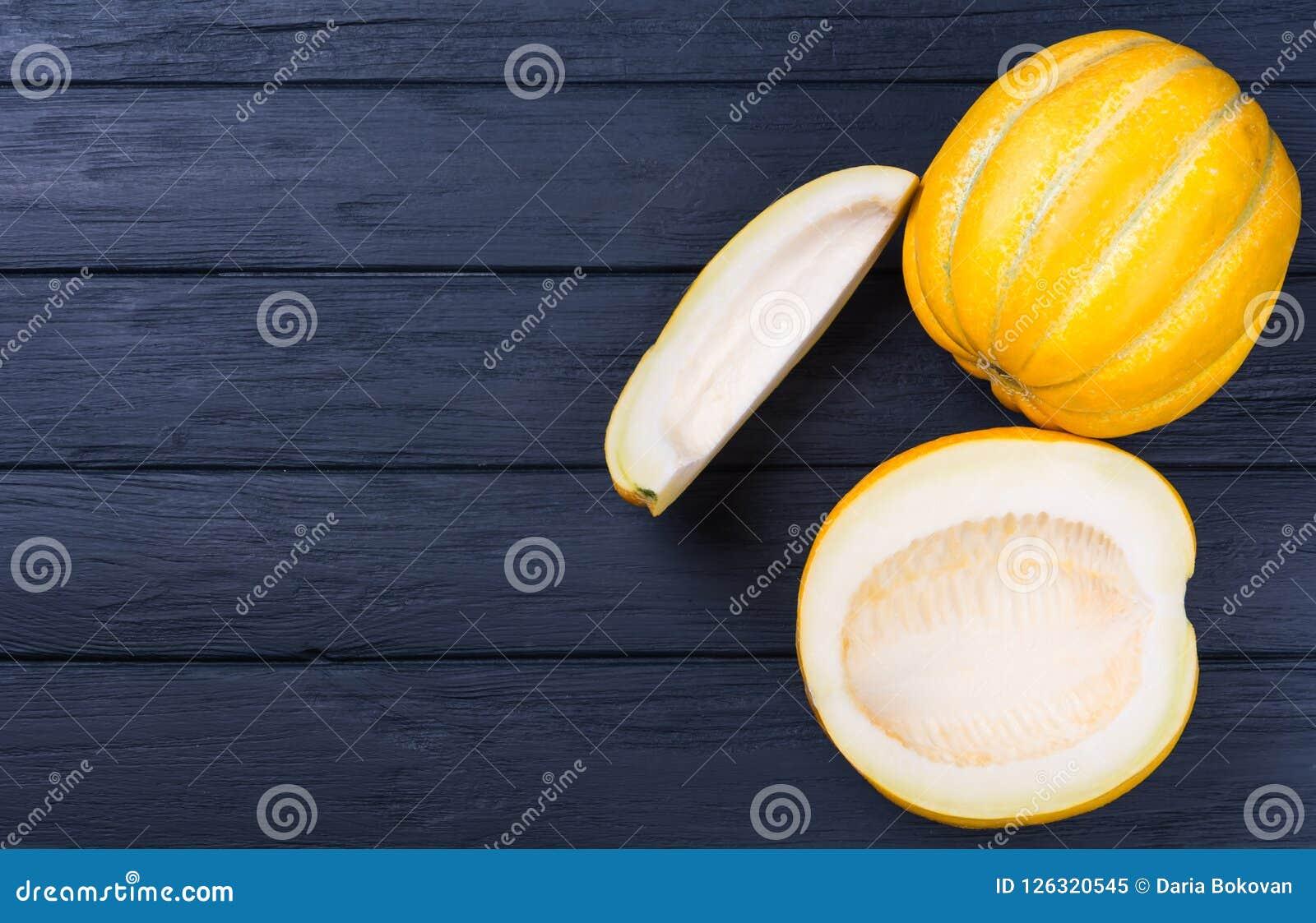 Żółty kantalupa melon