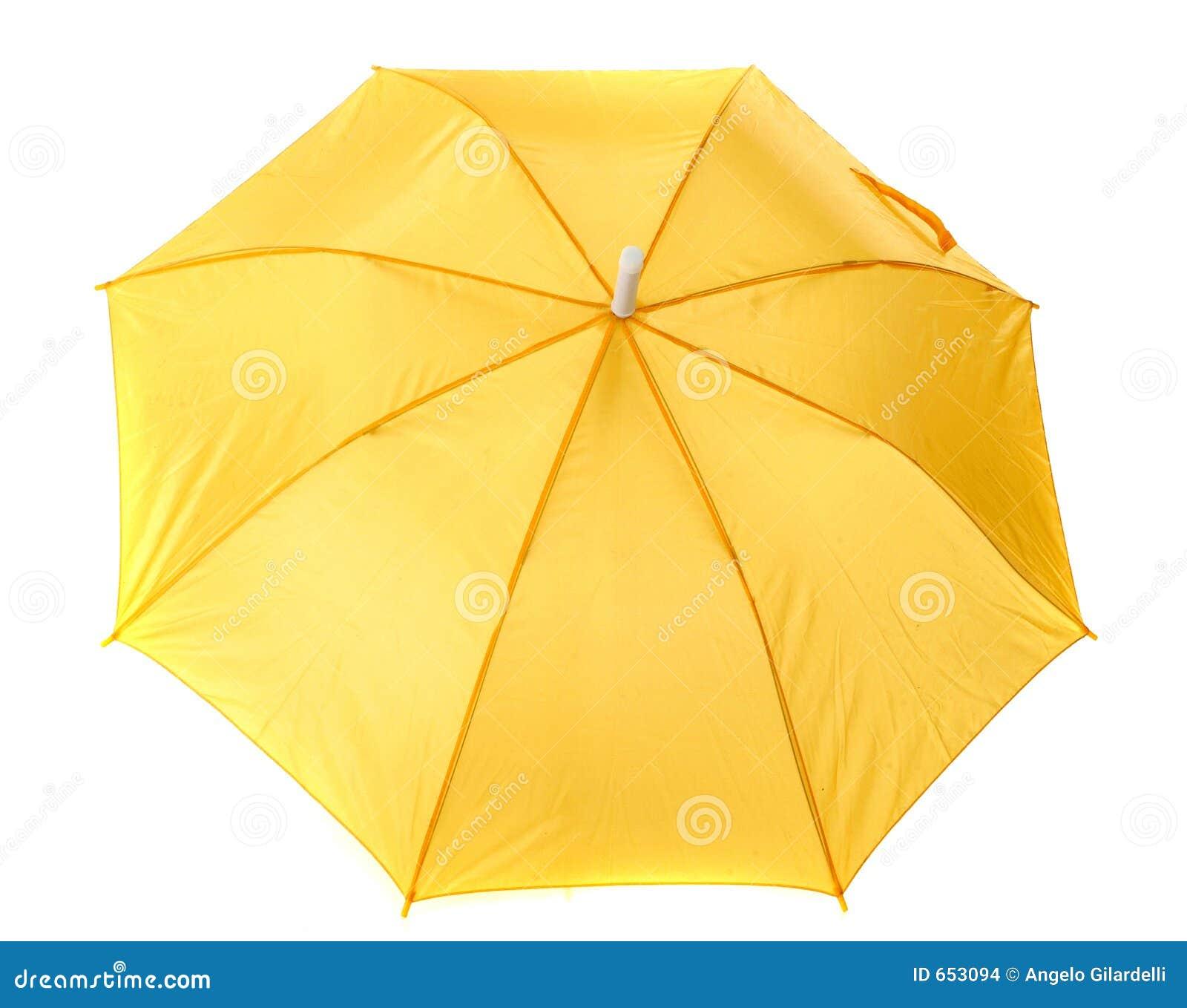 Żółty parasolowy
