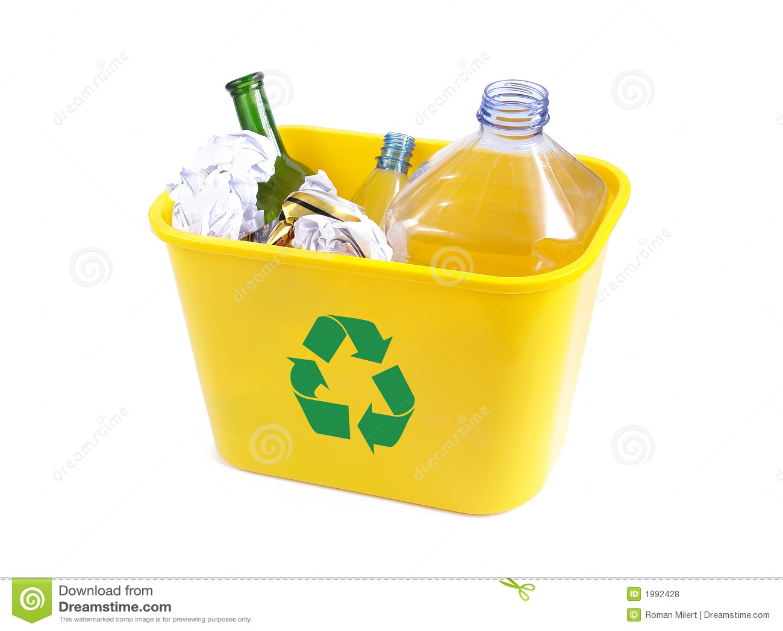 Żółty usuwania koszyka