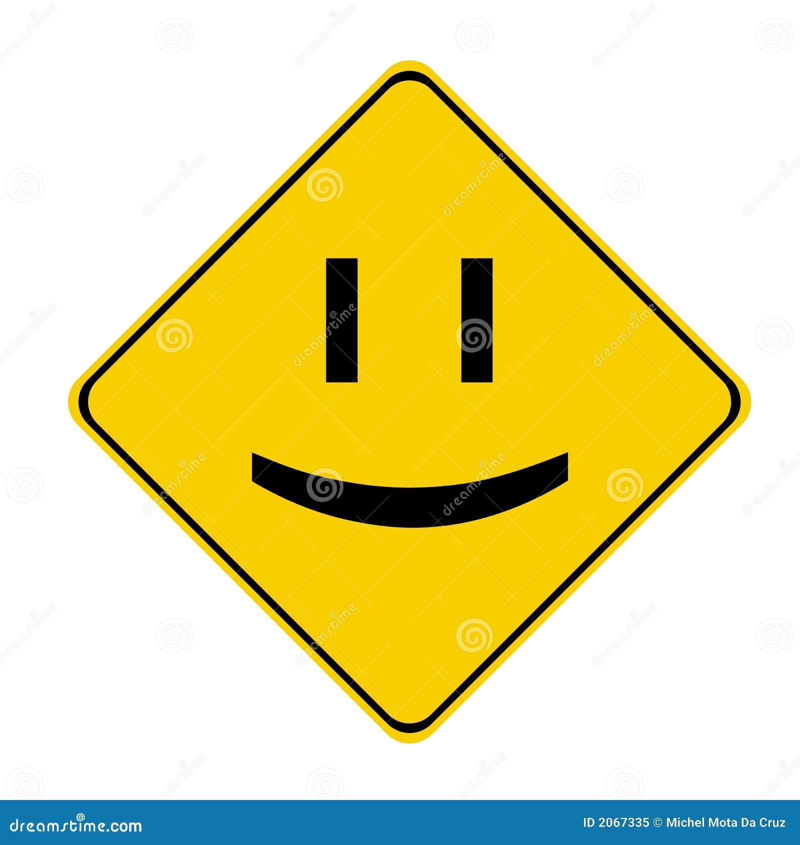 Żółty znak uśmiechu