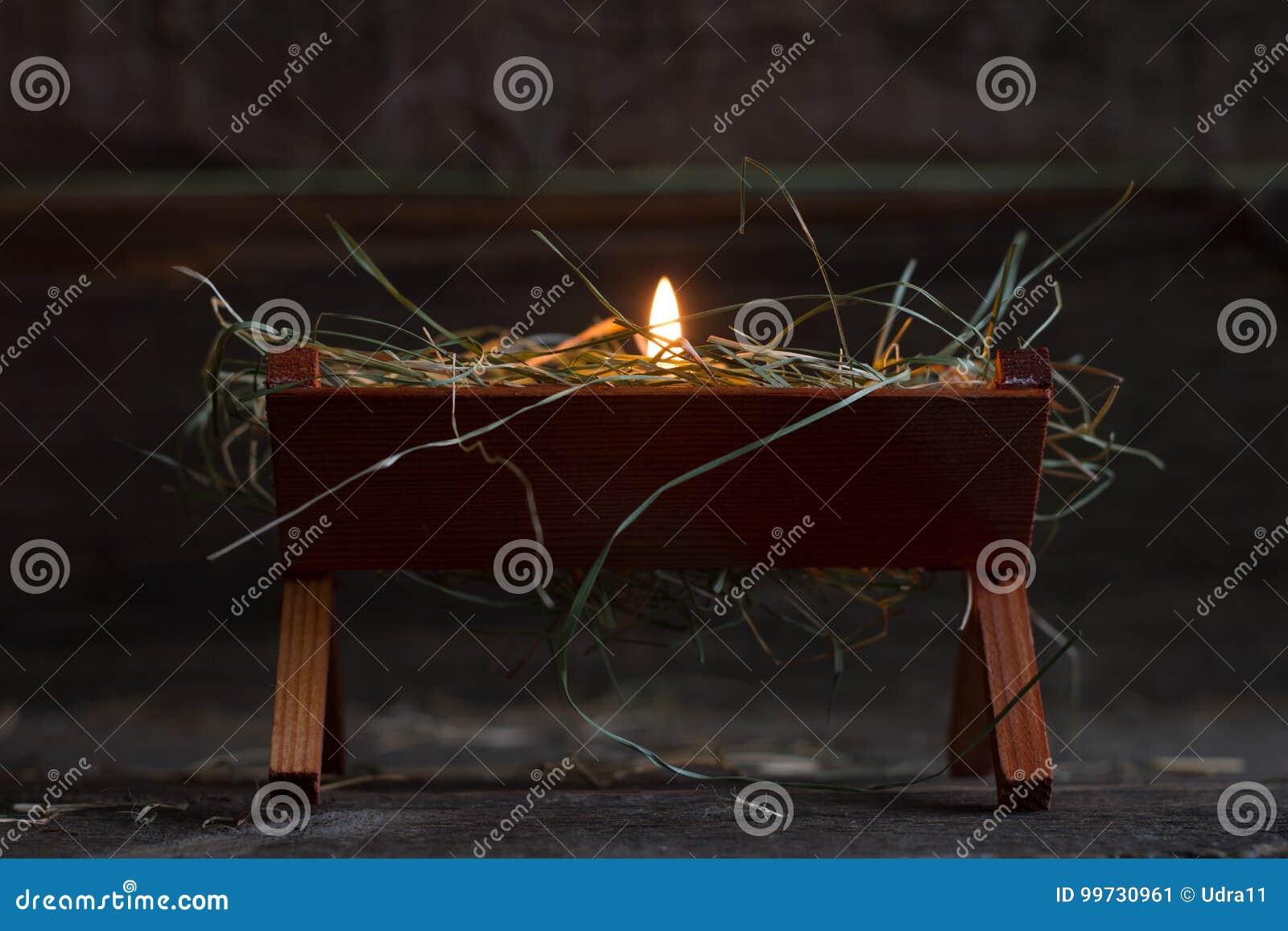 Żłób Jezus i światło nadziei bożych narodzeń abstrakcjonistyczny symbol