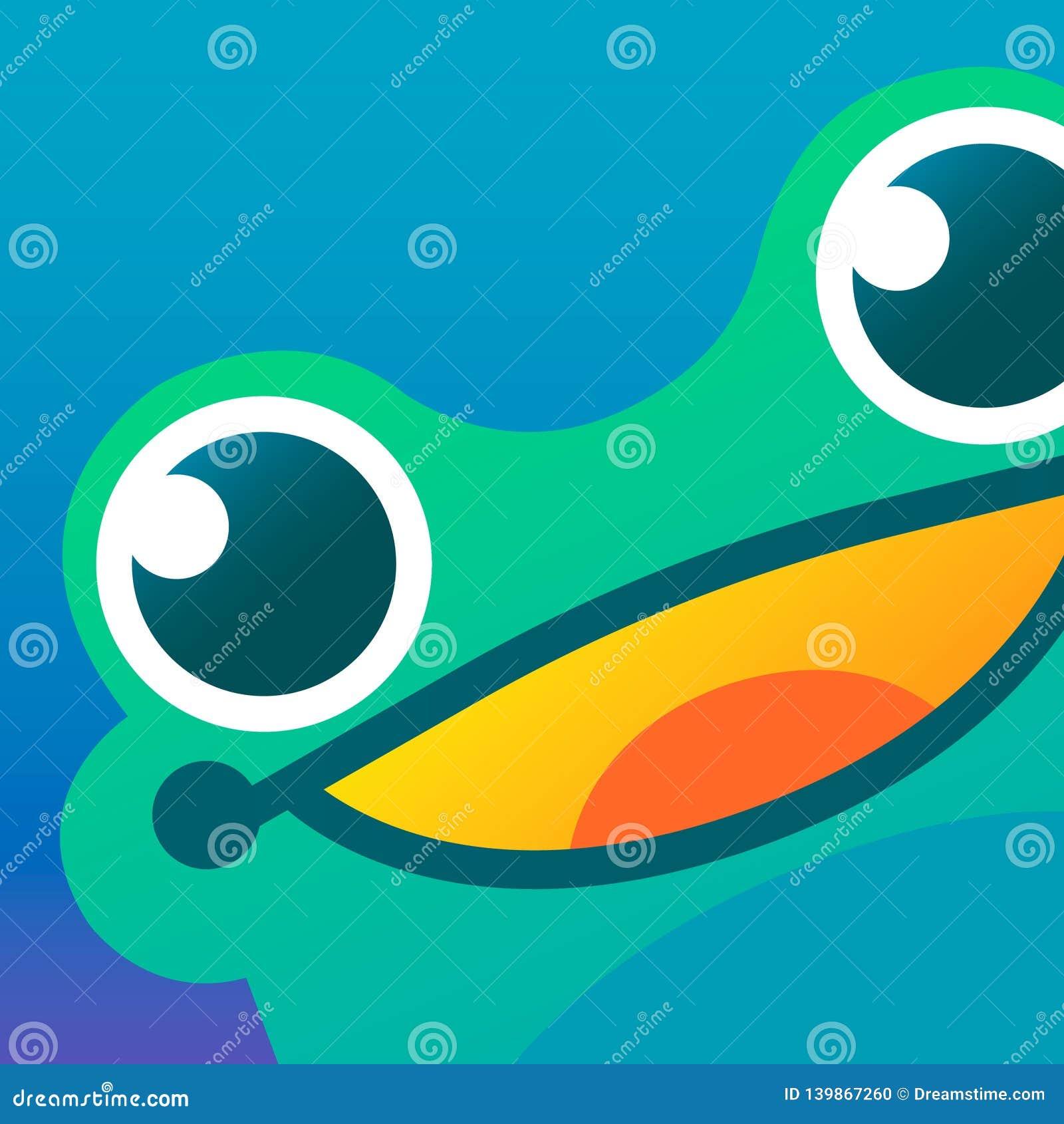 żaby ikona, wizerunek, logo/ Sztuki ilustracja