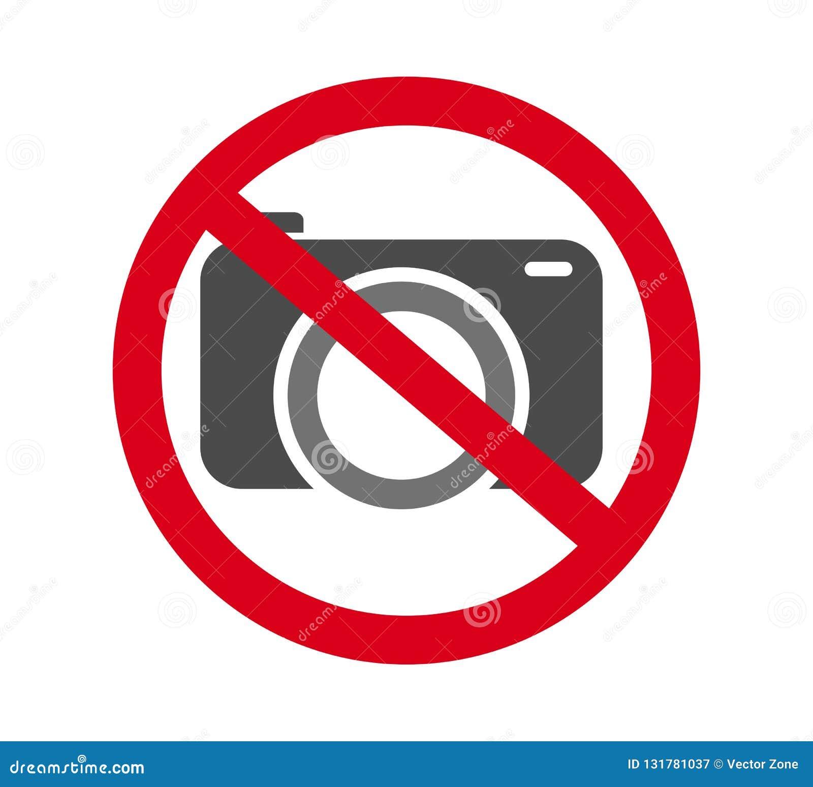 Żadny kamery pozwolić znak Czerwona prohibicja żadny kamera znak Żadny bierze obrazki, żadny fotografia znak