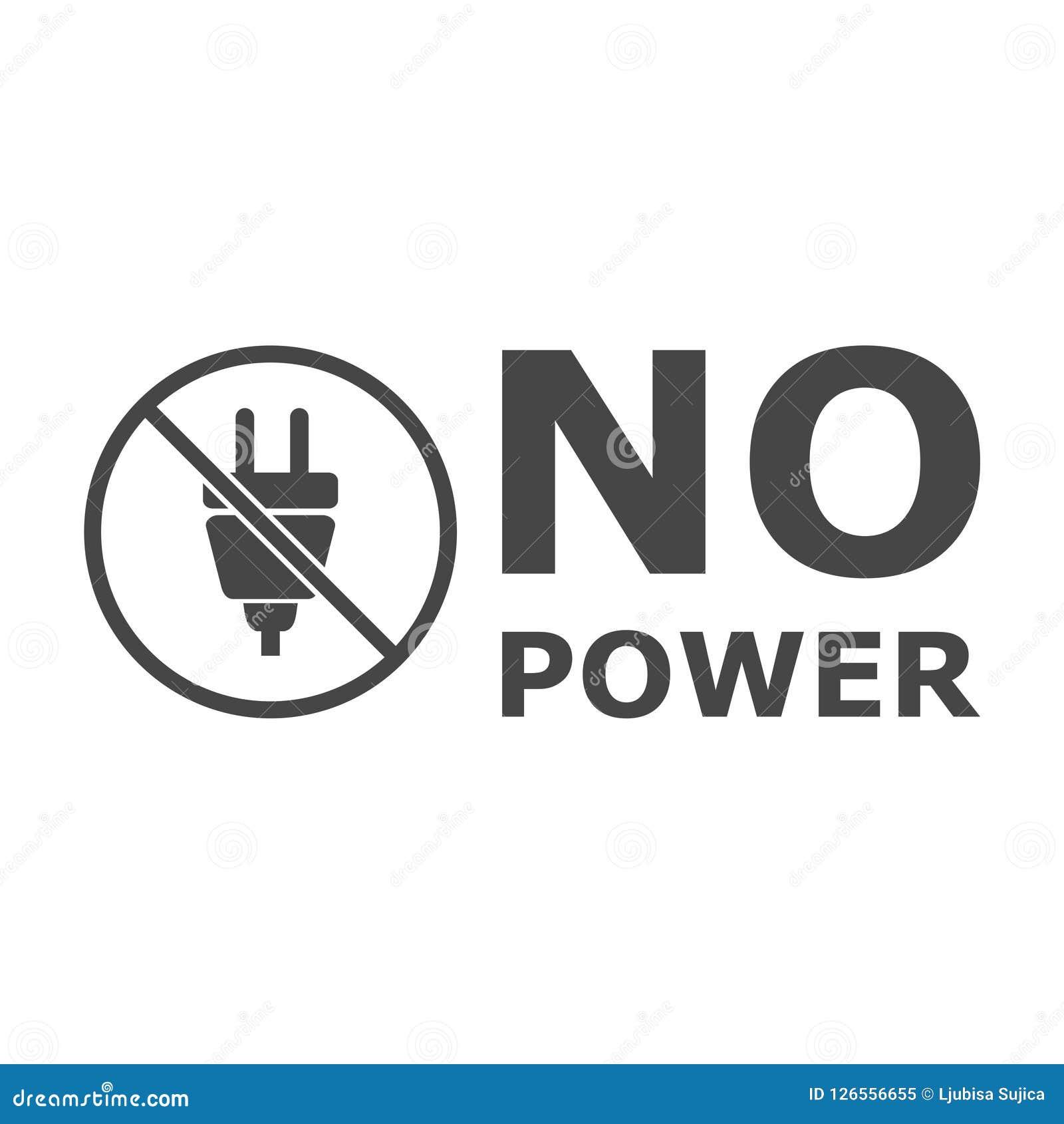 Żadny władzy ikona