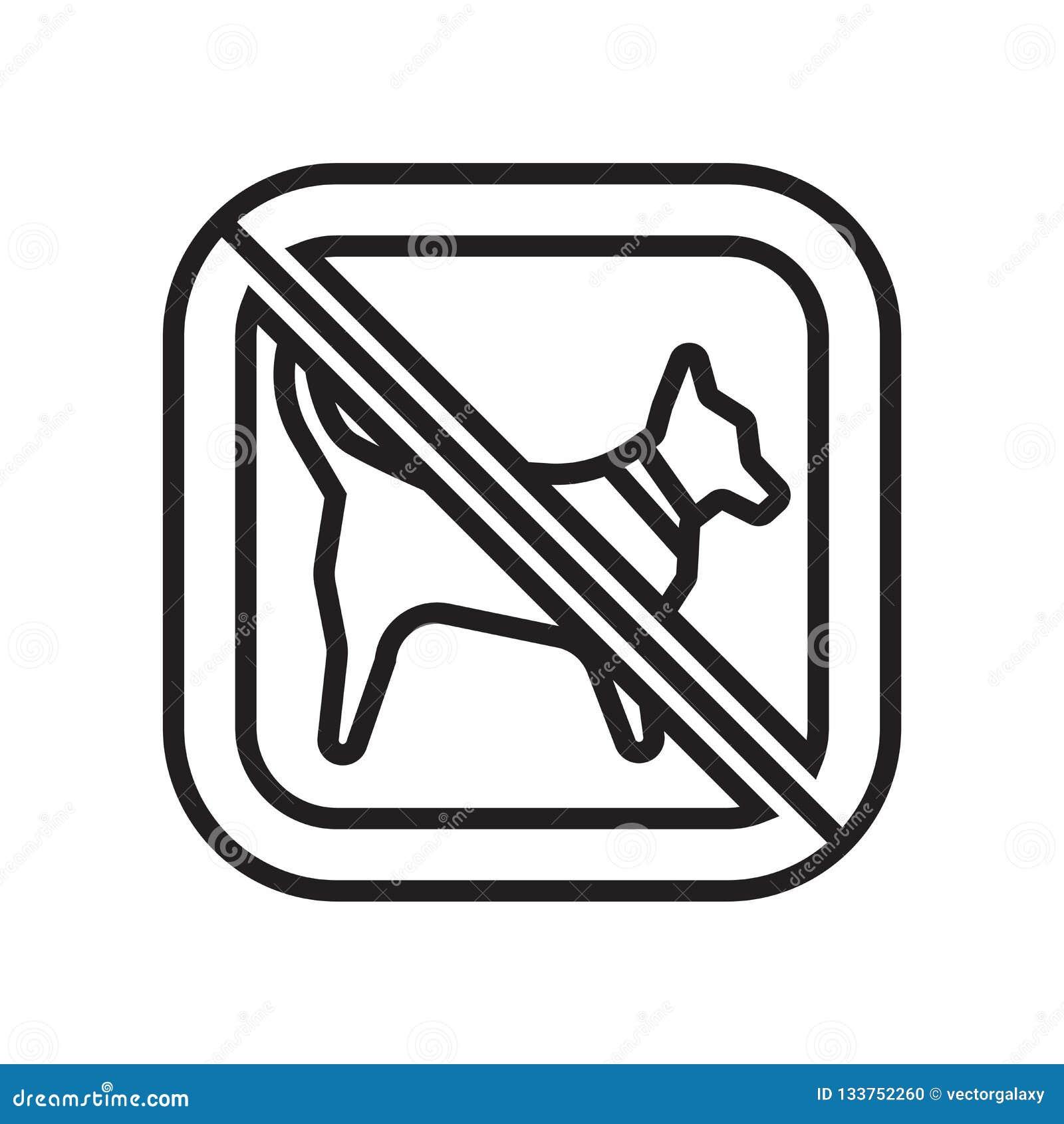 Żadny zwierzę ikony wektoru symbol i, Żadny zwierzę loga pojęcie