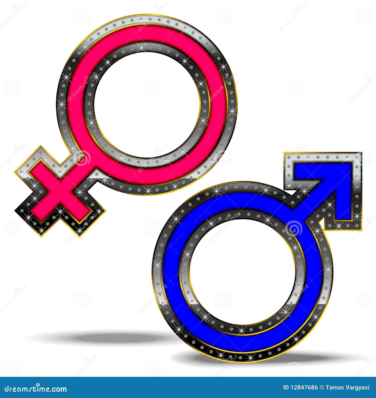 żeński męski symbol