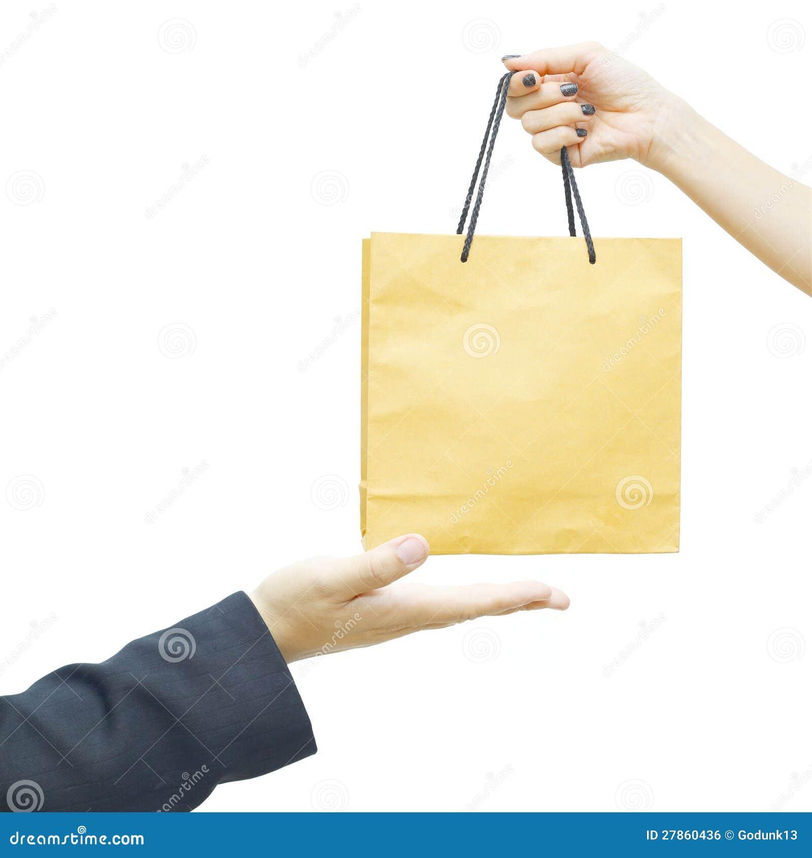 Żeński utrzymanie żeńska papierowa torba