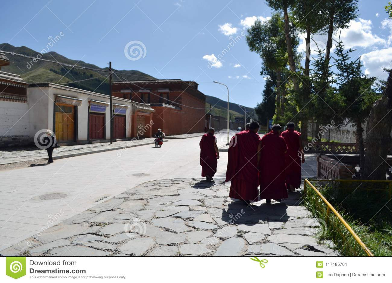 Życie wokoło Labrang w Xiahe, Amdo Tybet, Chiny Michaelita są e