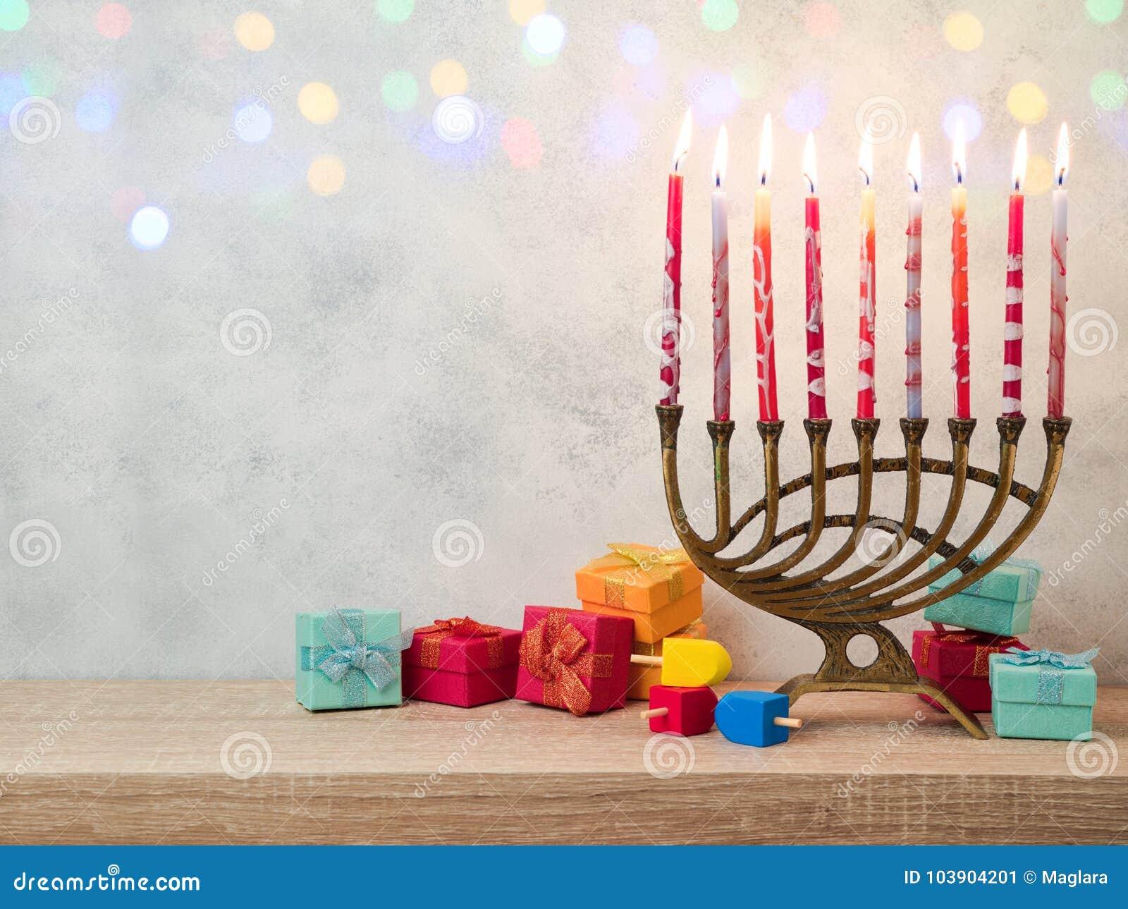 Żydowski wakacyjny Hanukkah tło