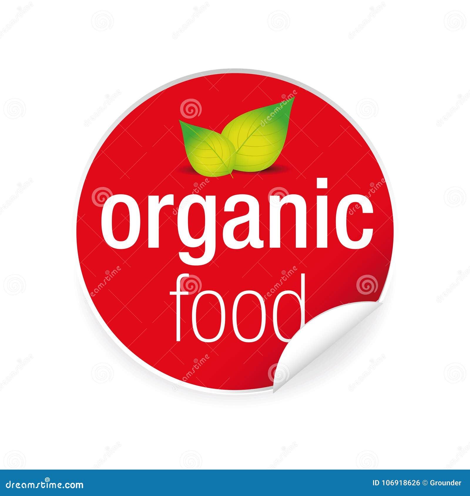 Żywności organicznej etykietki etykietki majcher