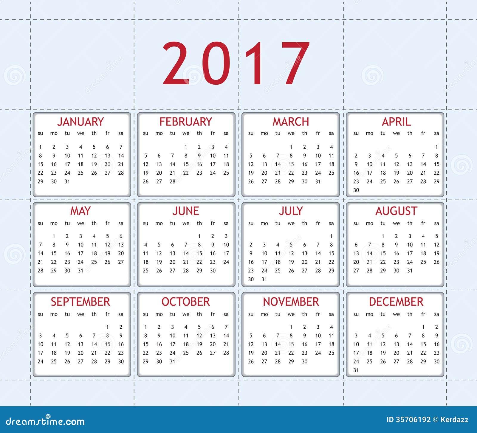 被设计的日历年2017年图片