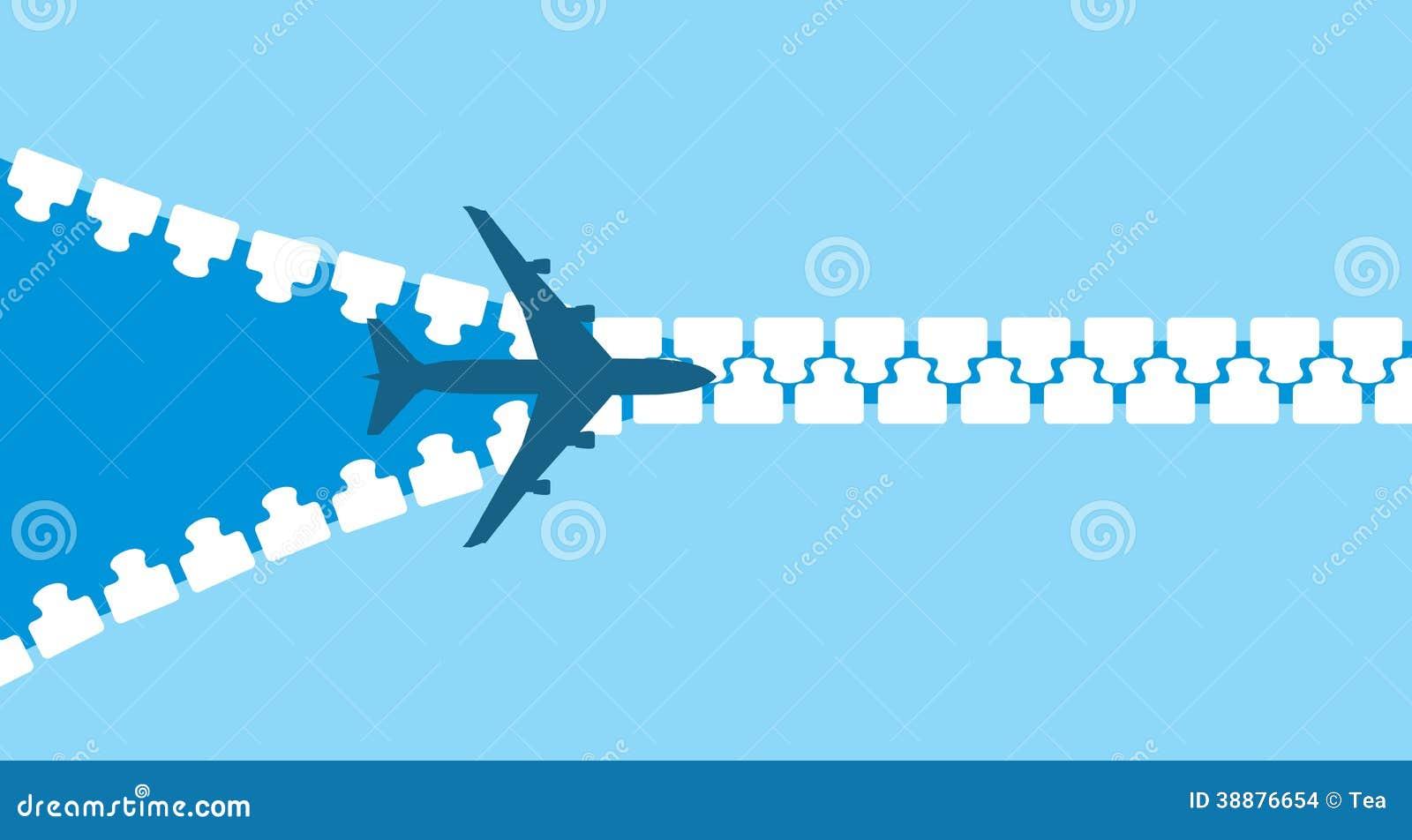 喷气机飞机剪影