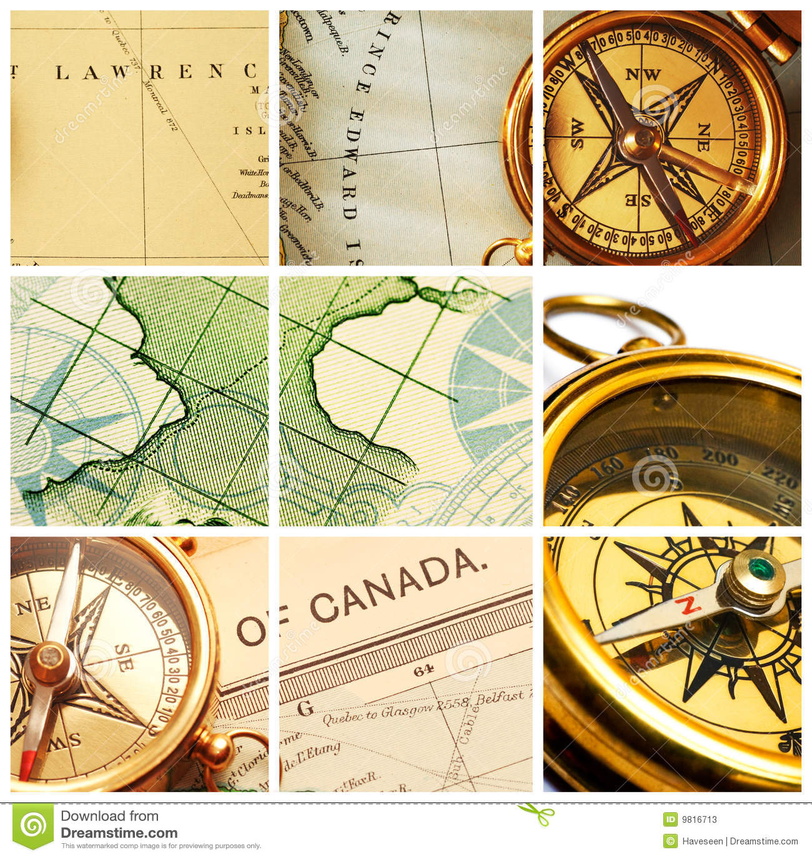 拼贴画航海图 库存照片