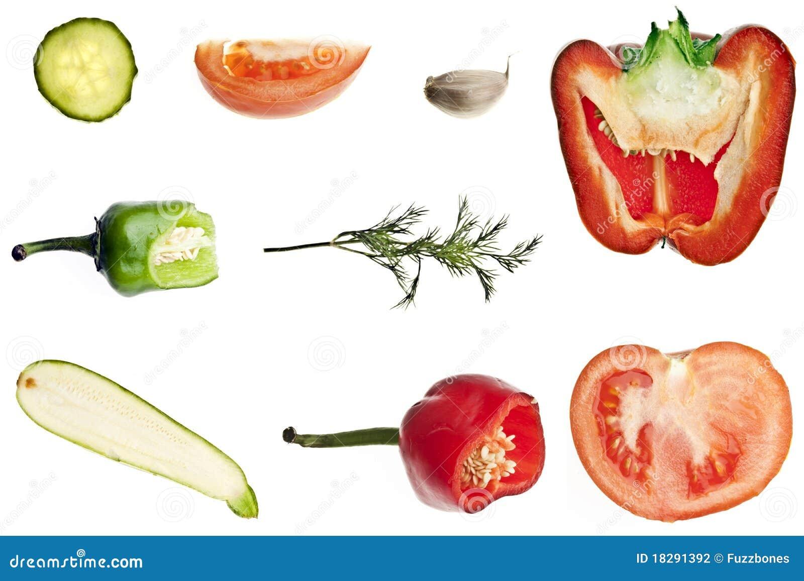 拼贴画剪切蔬菜 图库摄影
