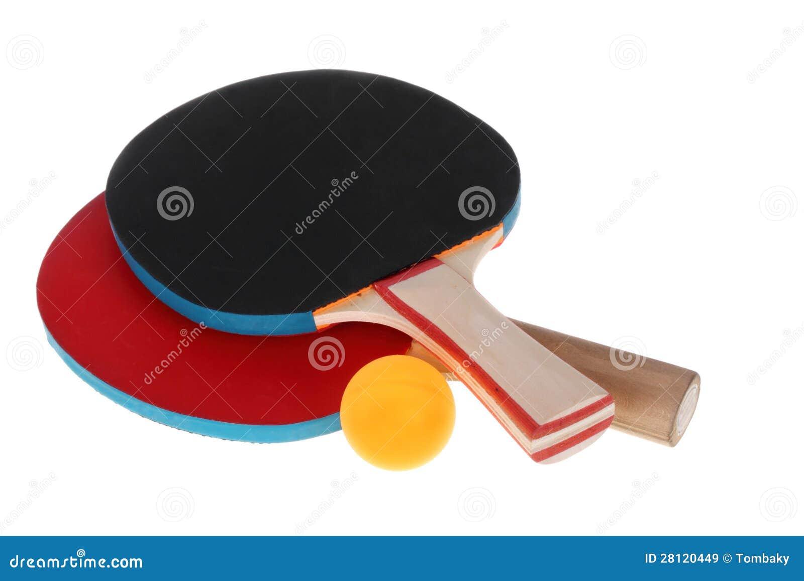 乒乓球球拍和球图片