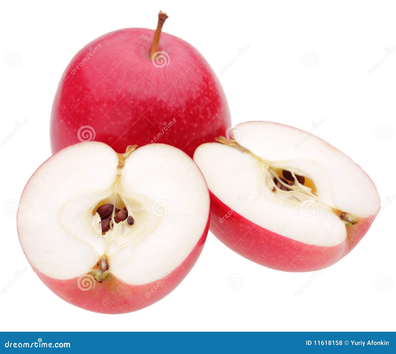 苹果背景红色白色