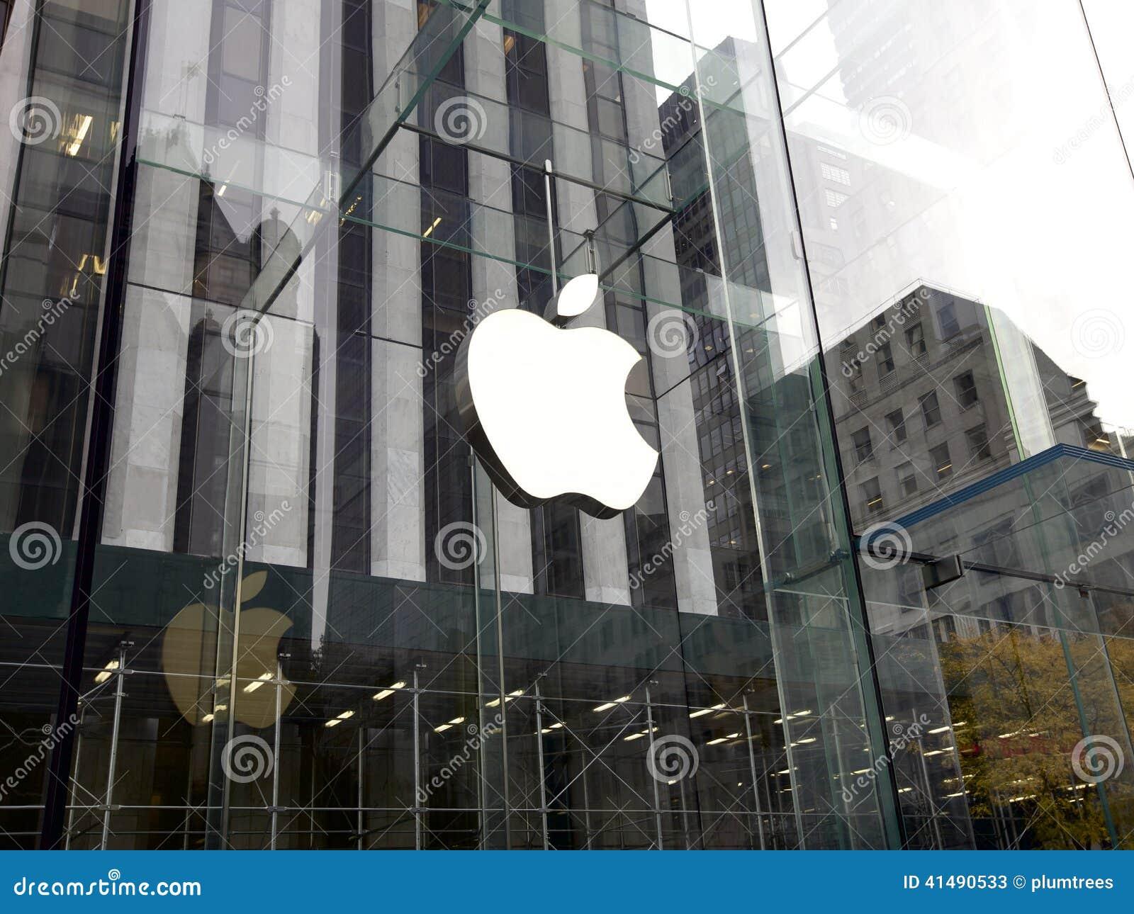 苹果计算机商店在纽约,美国图片