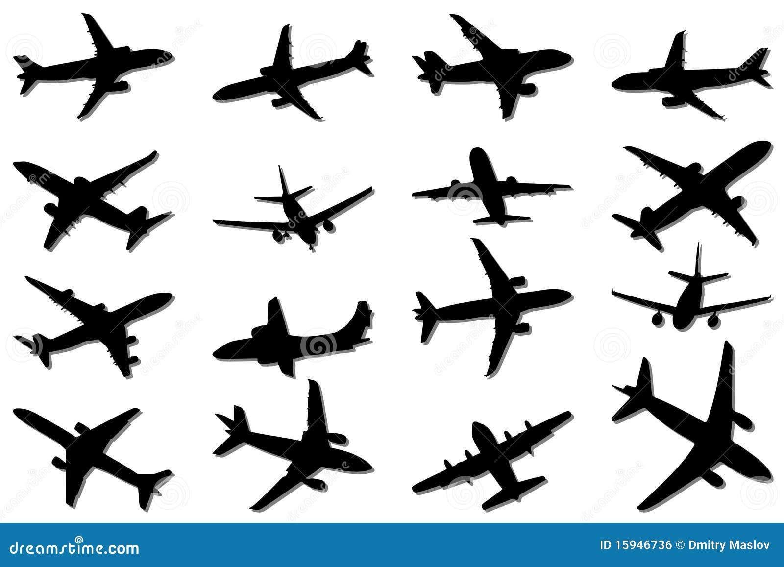 图象例证飞机剪影