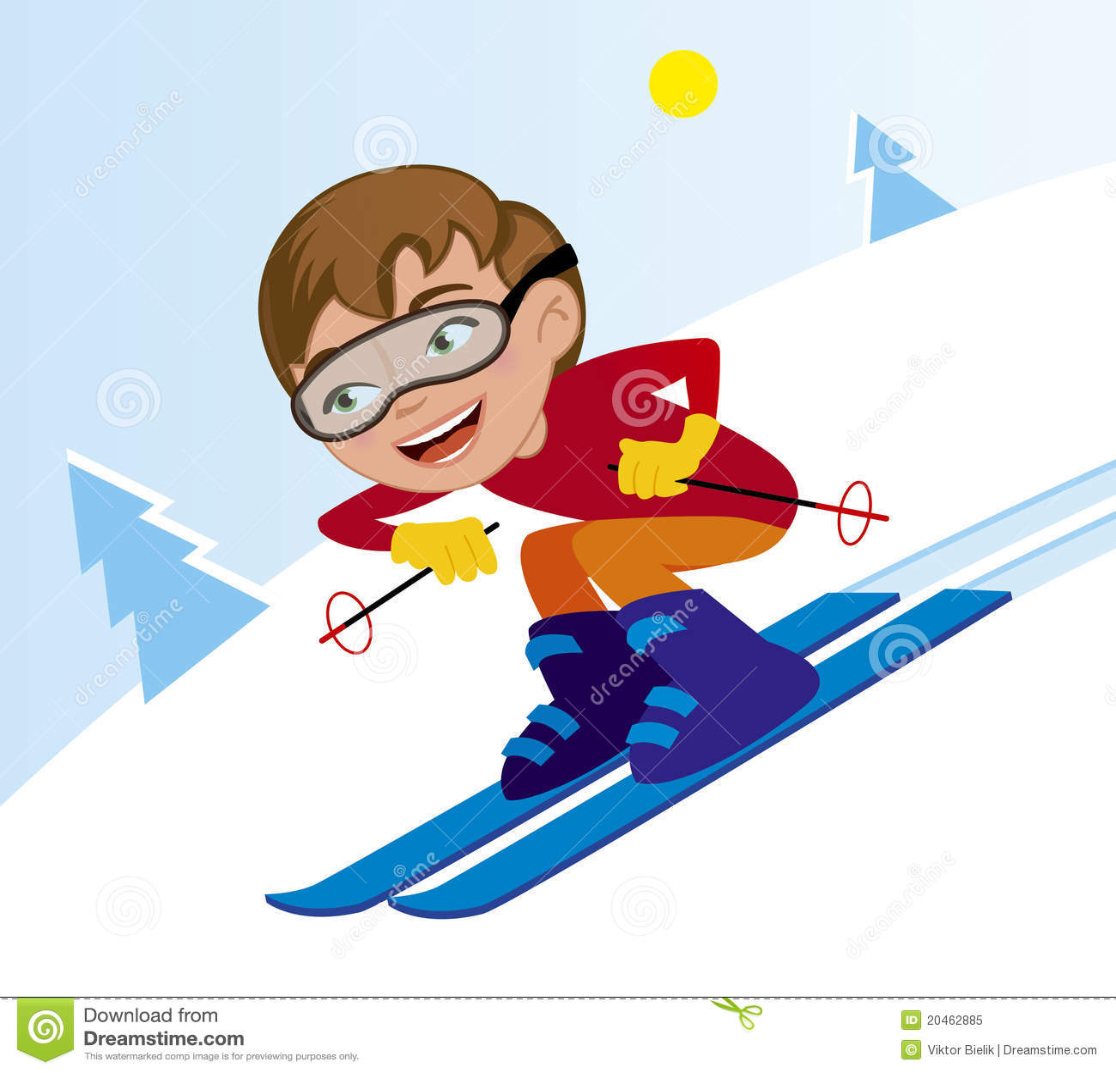 坡道滑雪冬天图片