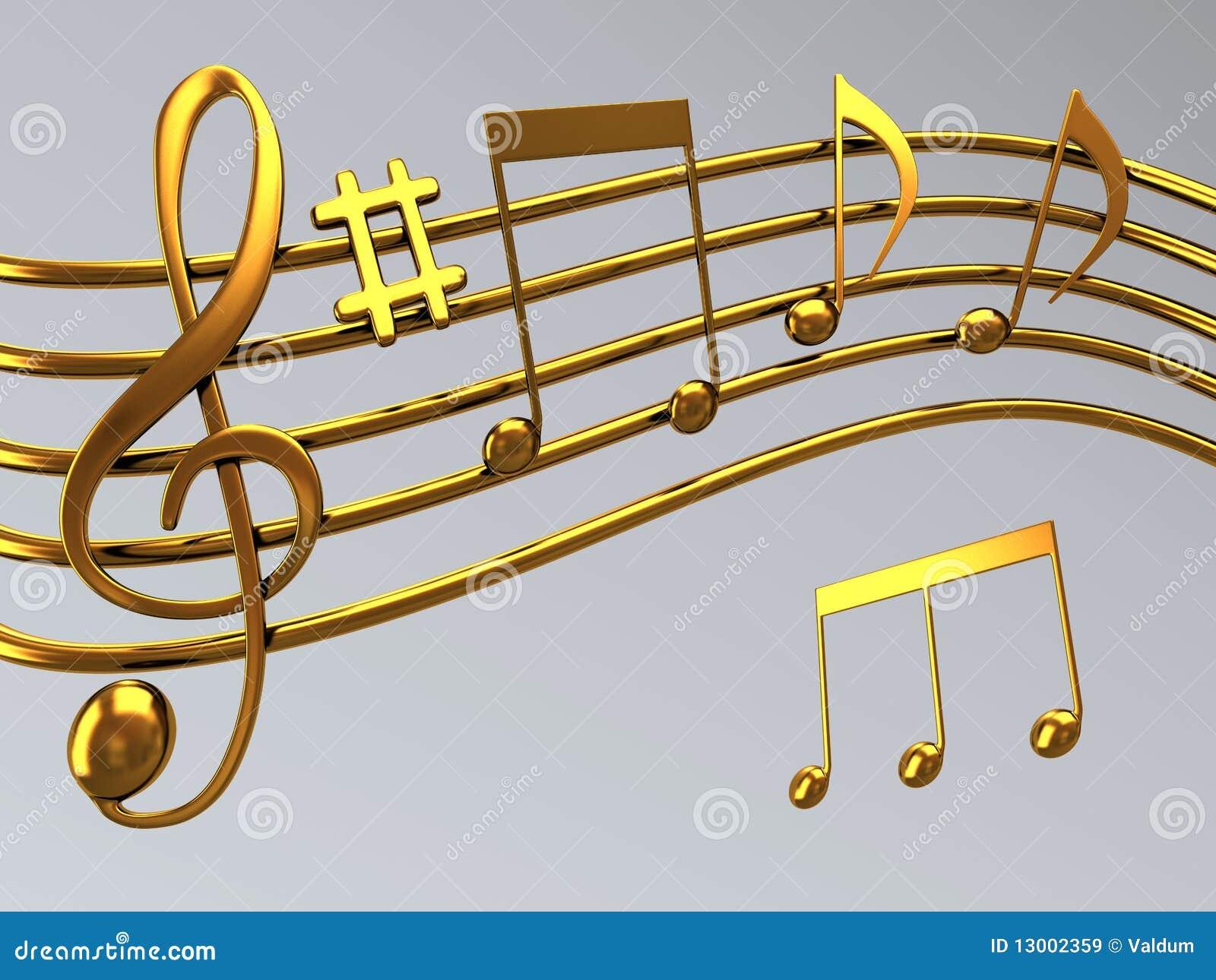 谱号金例证音符符号高音