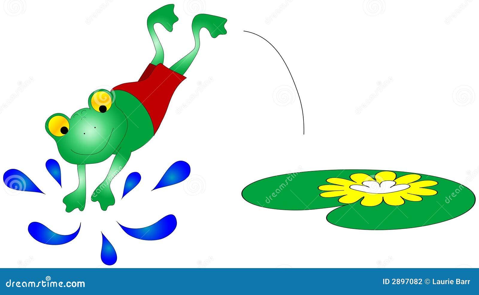 青蛙图象游泳 图库摄影