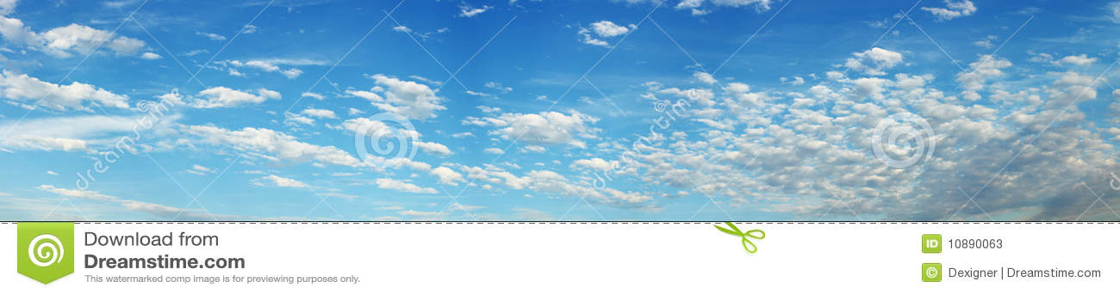 全景天空 库存照片 - 图片