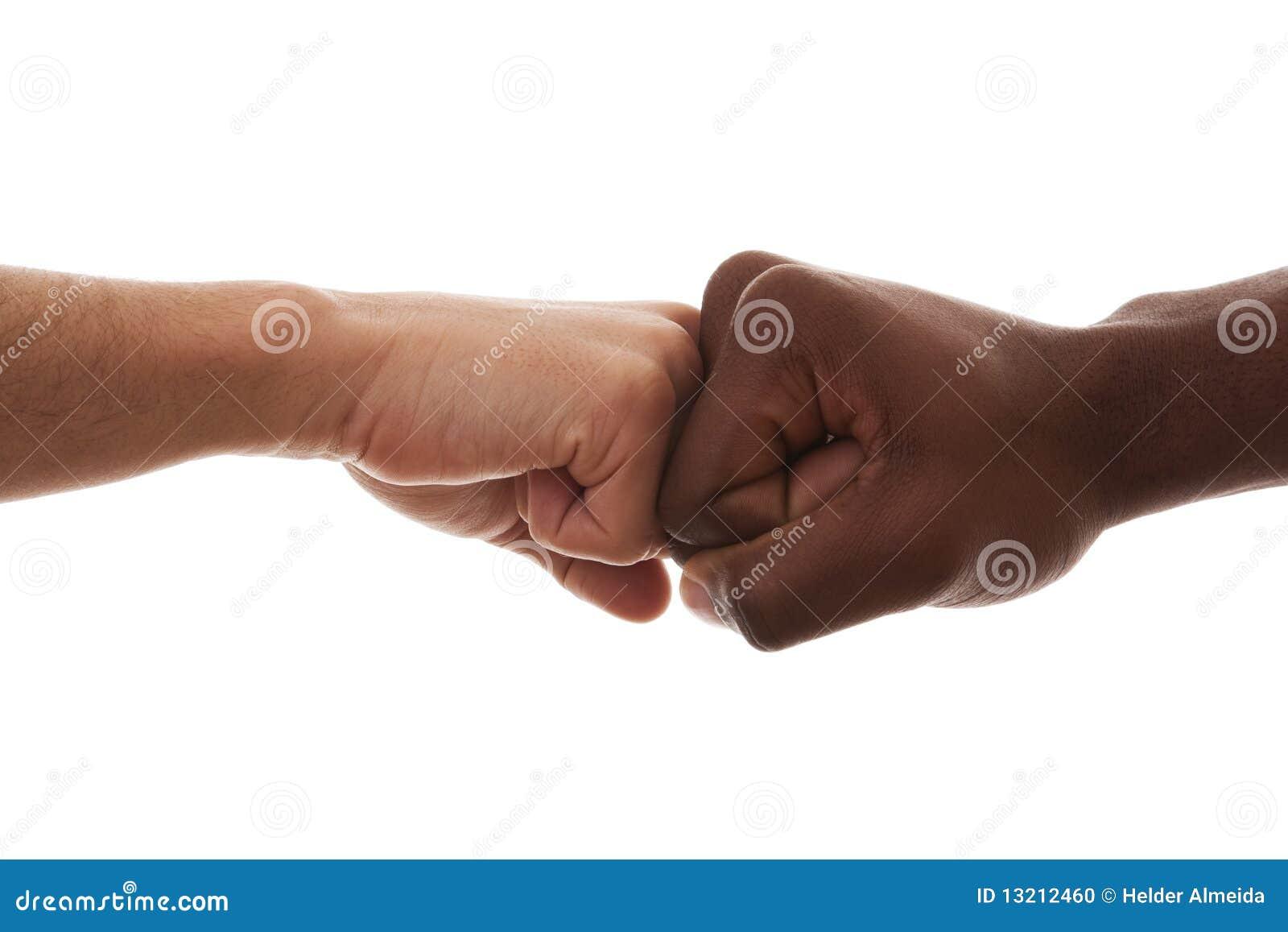 协议拳头查出的多种族对白色.