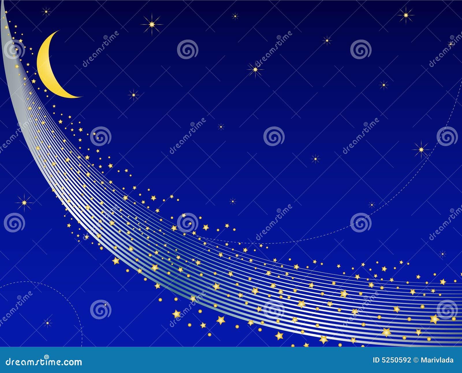 背包蓝色晚上月亮闪烁
