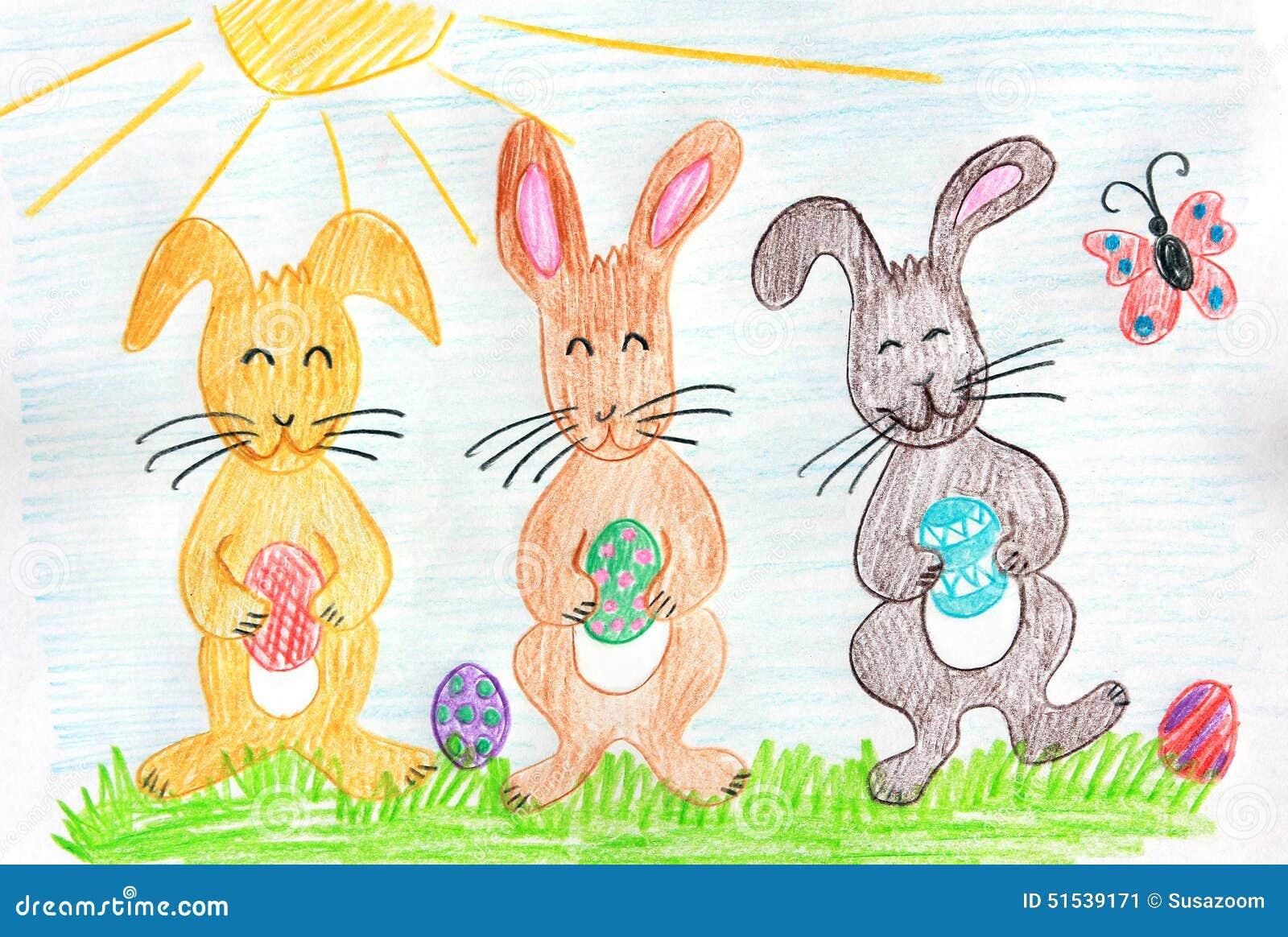 关于兔子的儿童画