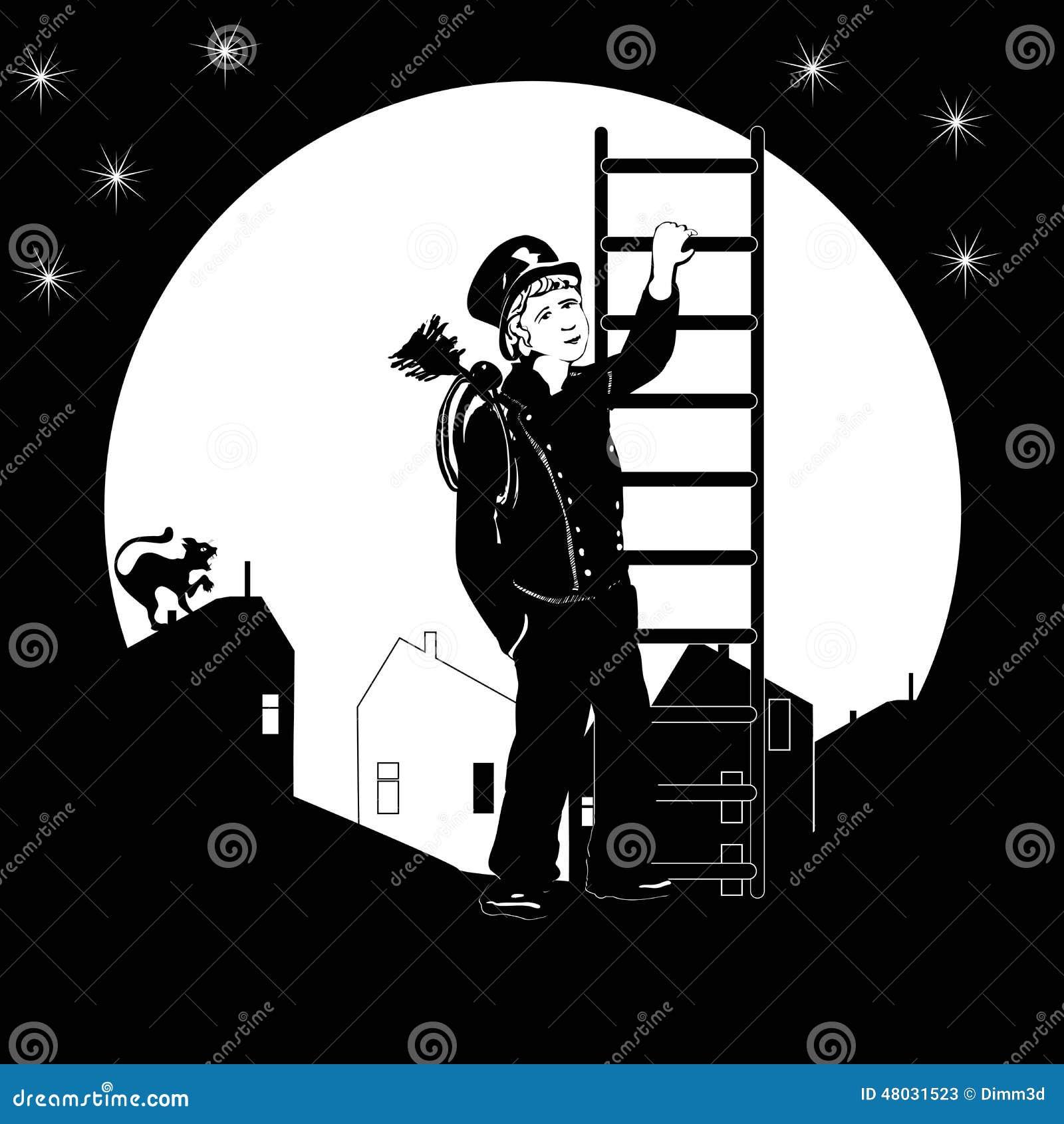 扫烟囱的人和月亮