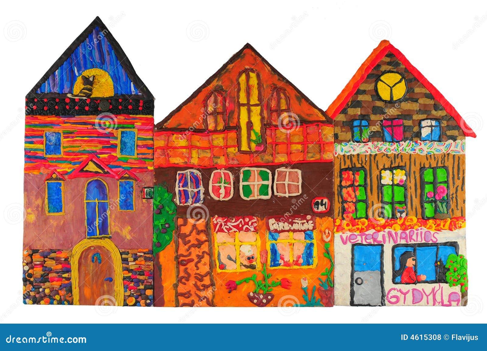 色的房子彩色塑泥