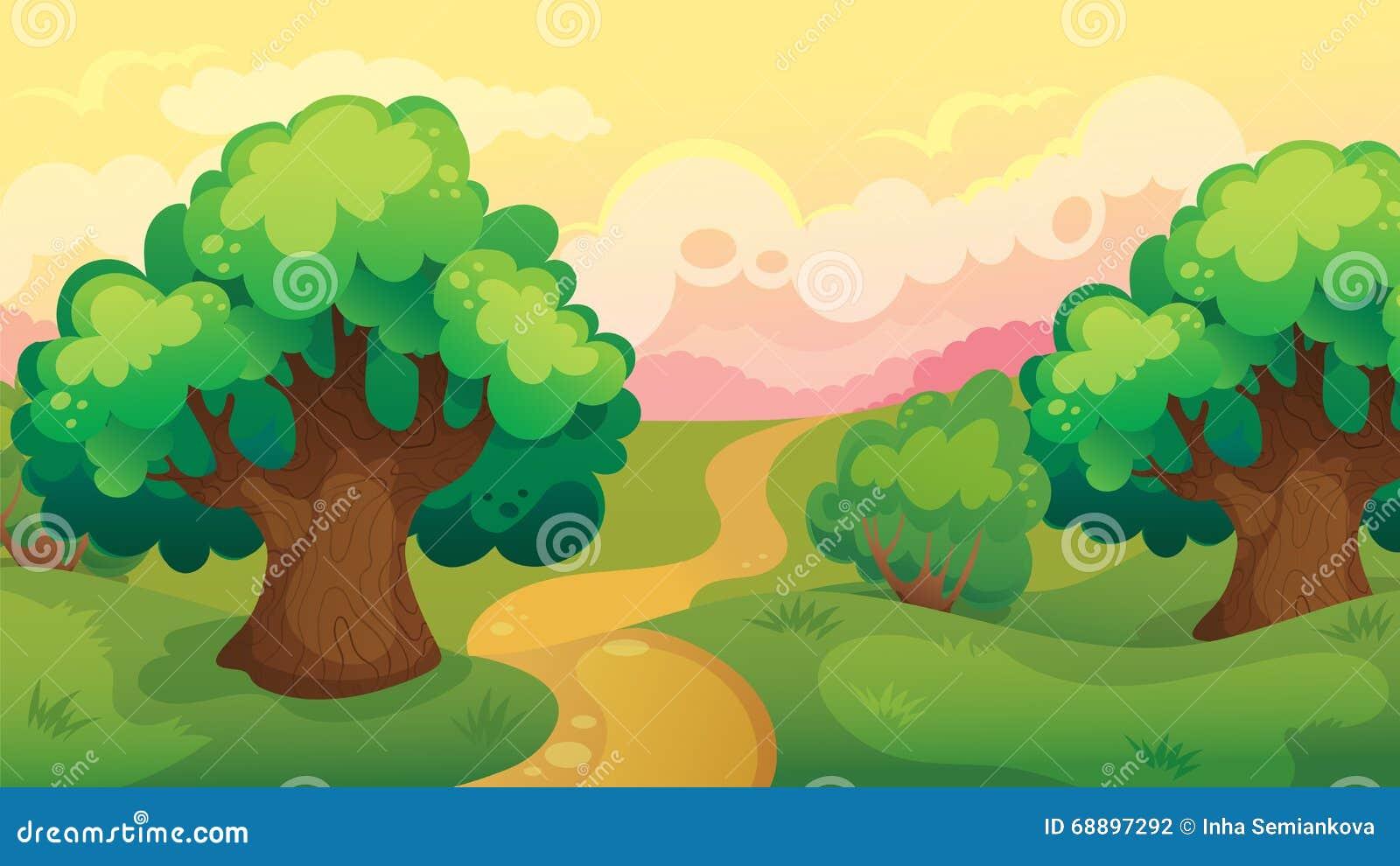 森林背景图儿童画分享展示图片