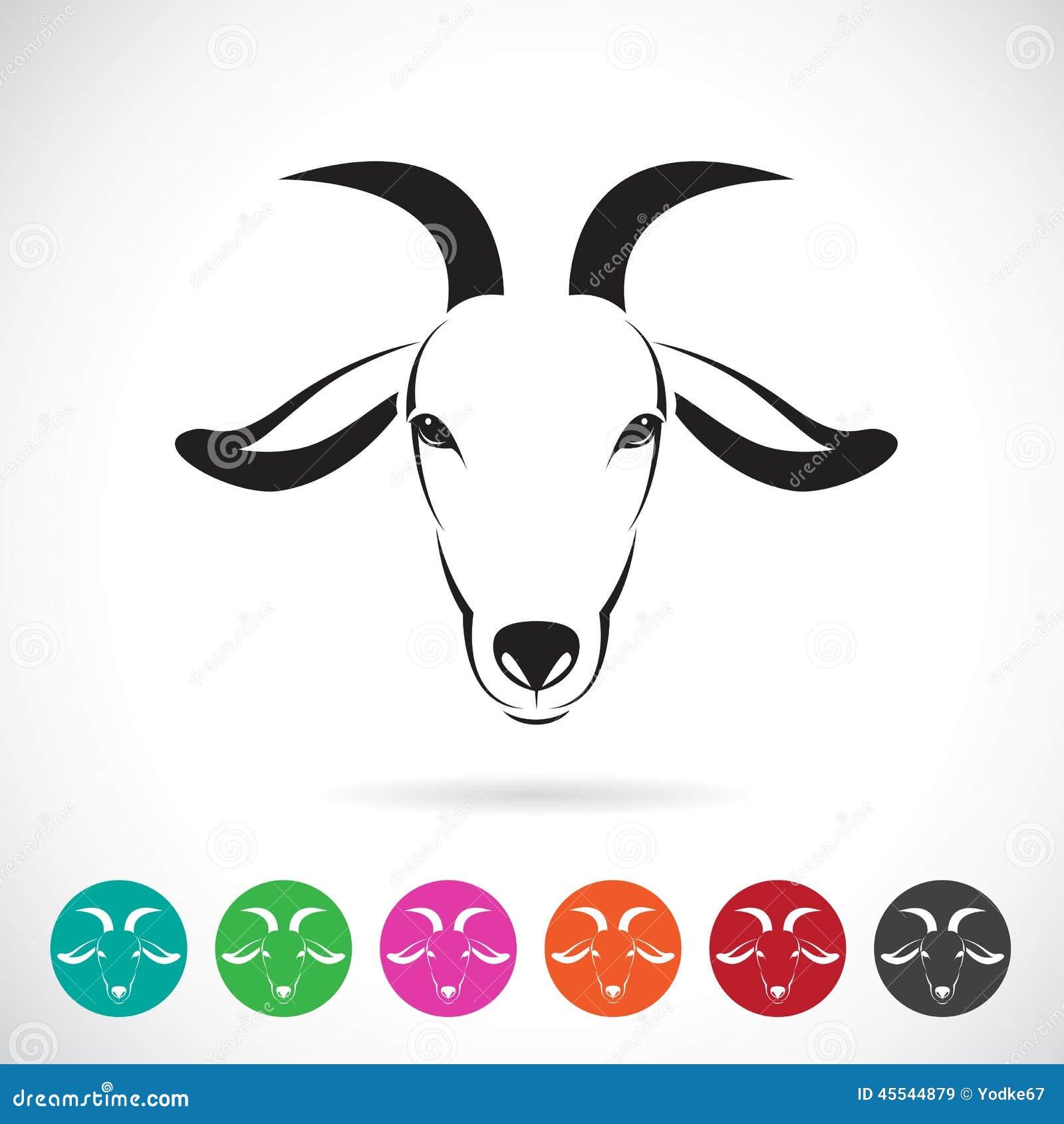 向量例证: 山羊头的传染媒介图象