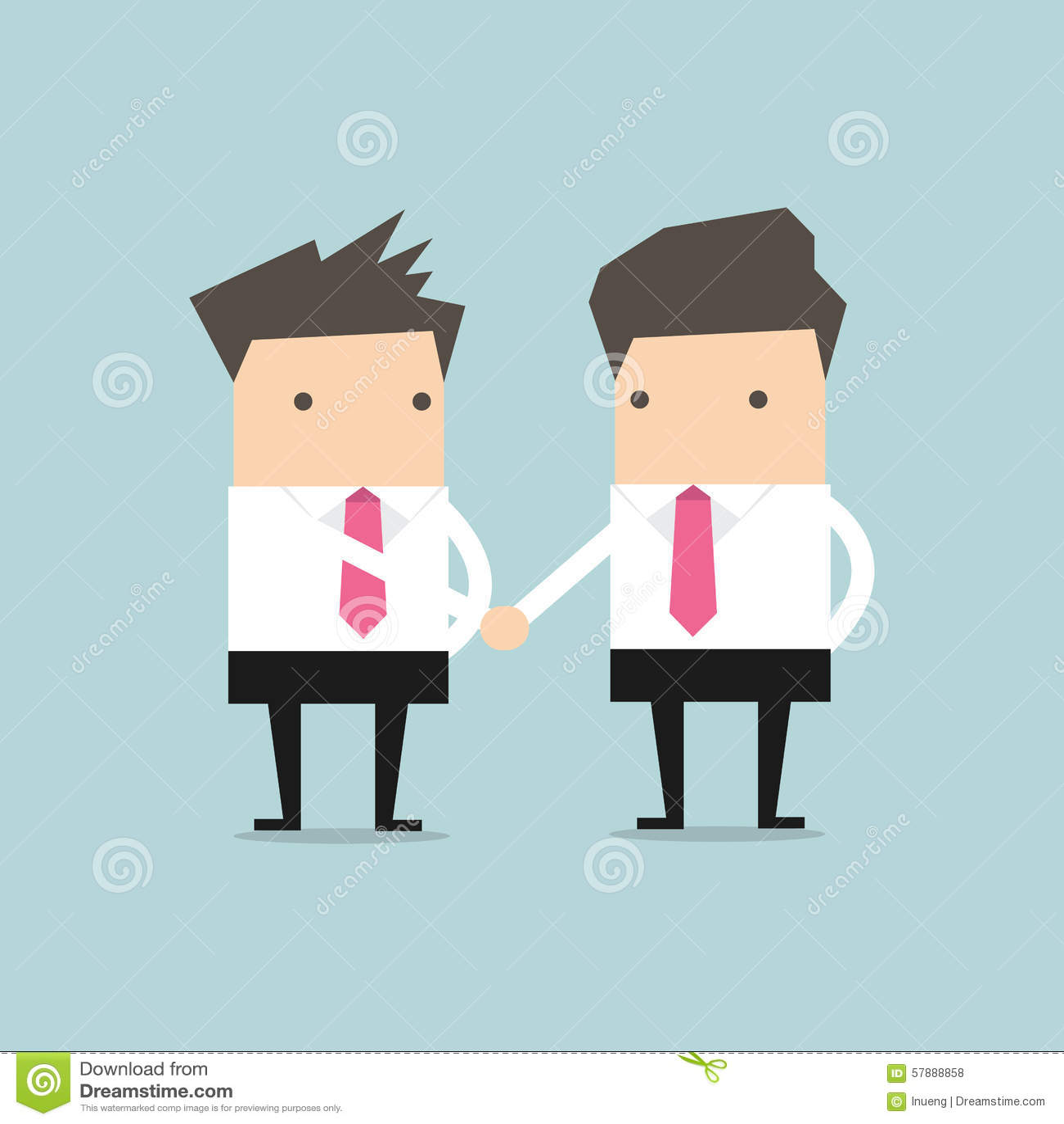 握手的商人祝贺传染媒介.图片