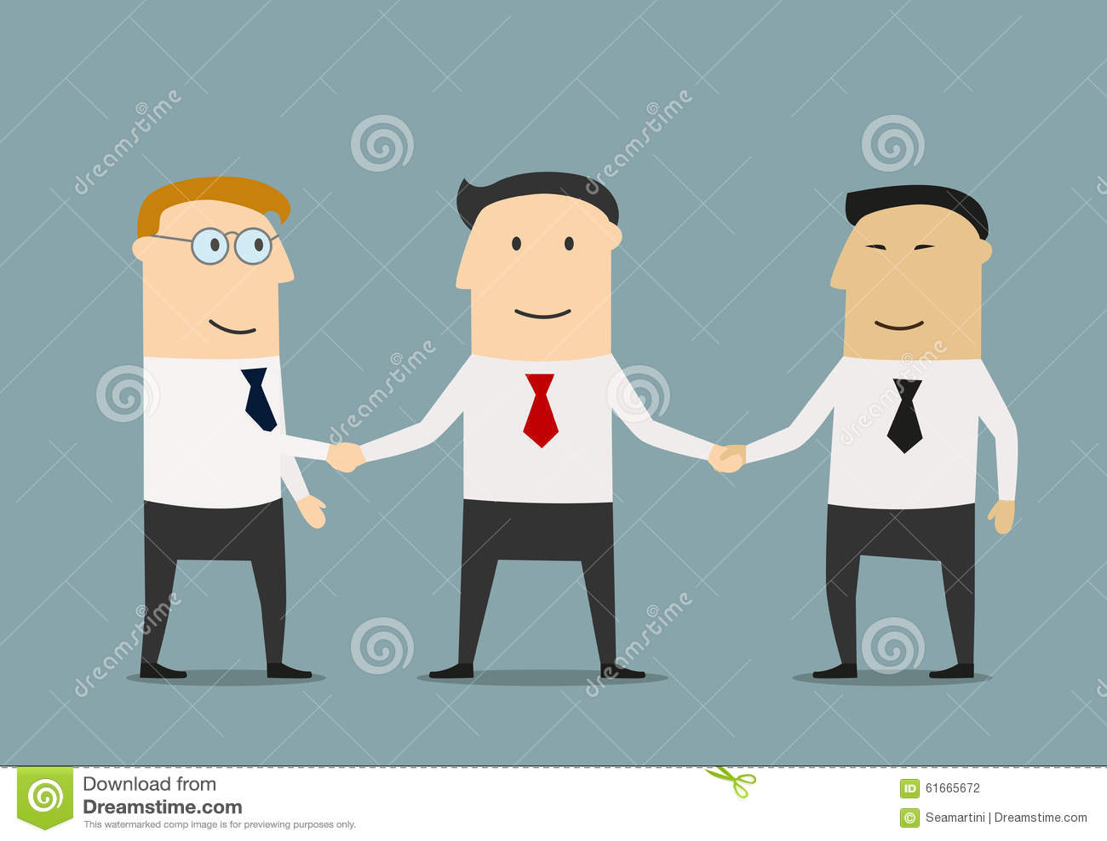 友好的微笑的商人握手业务会议构思设计的两个伙伴.图片