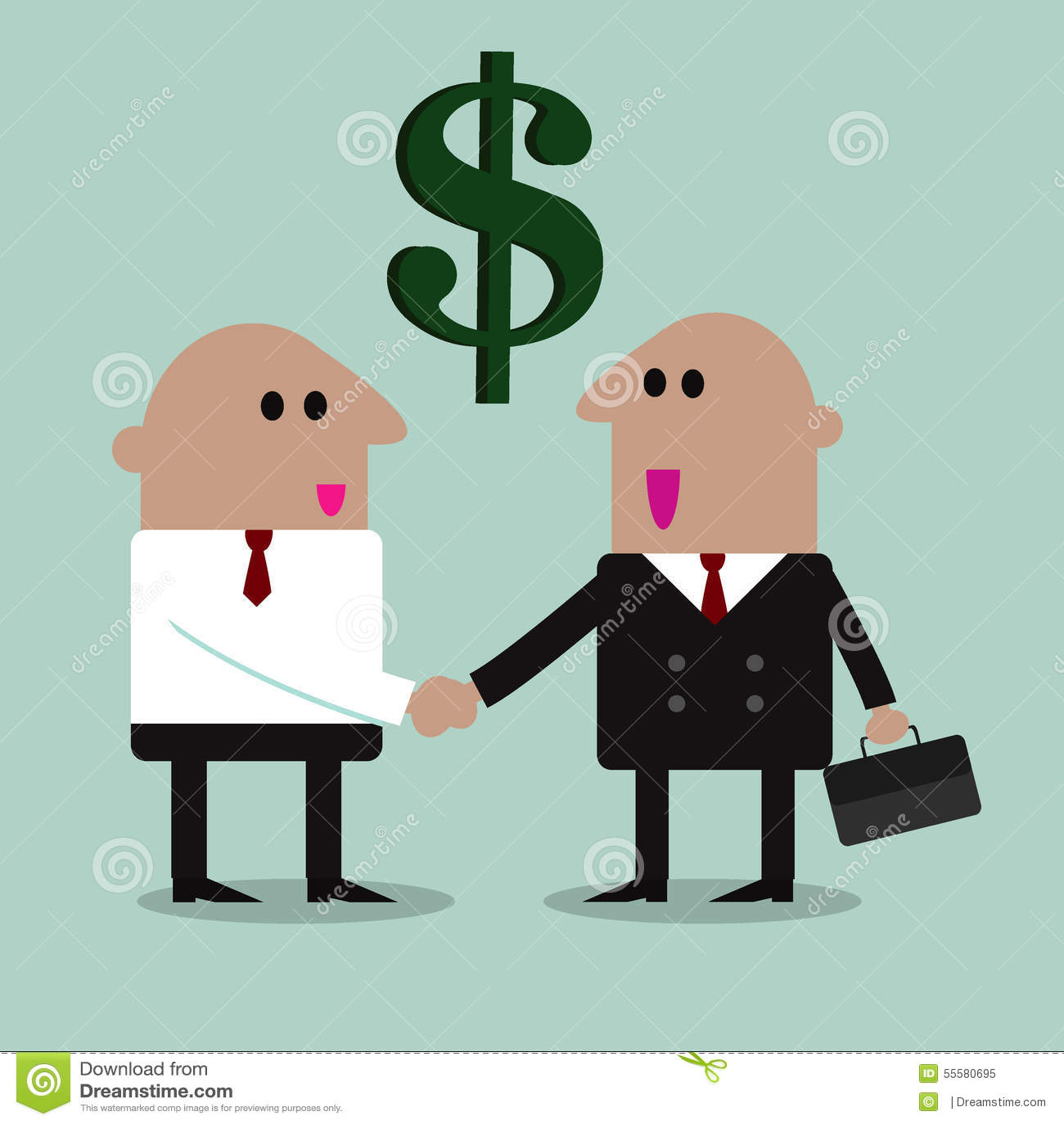 商务伙伴握手图片