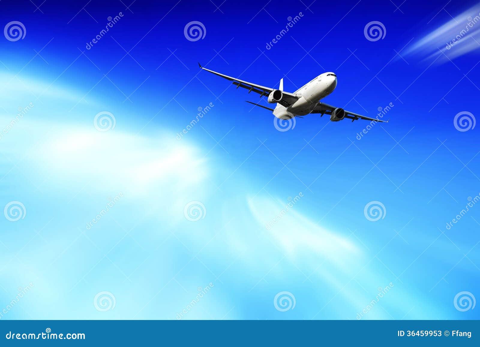 上升的飞机 库存照片