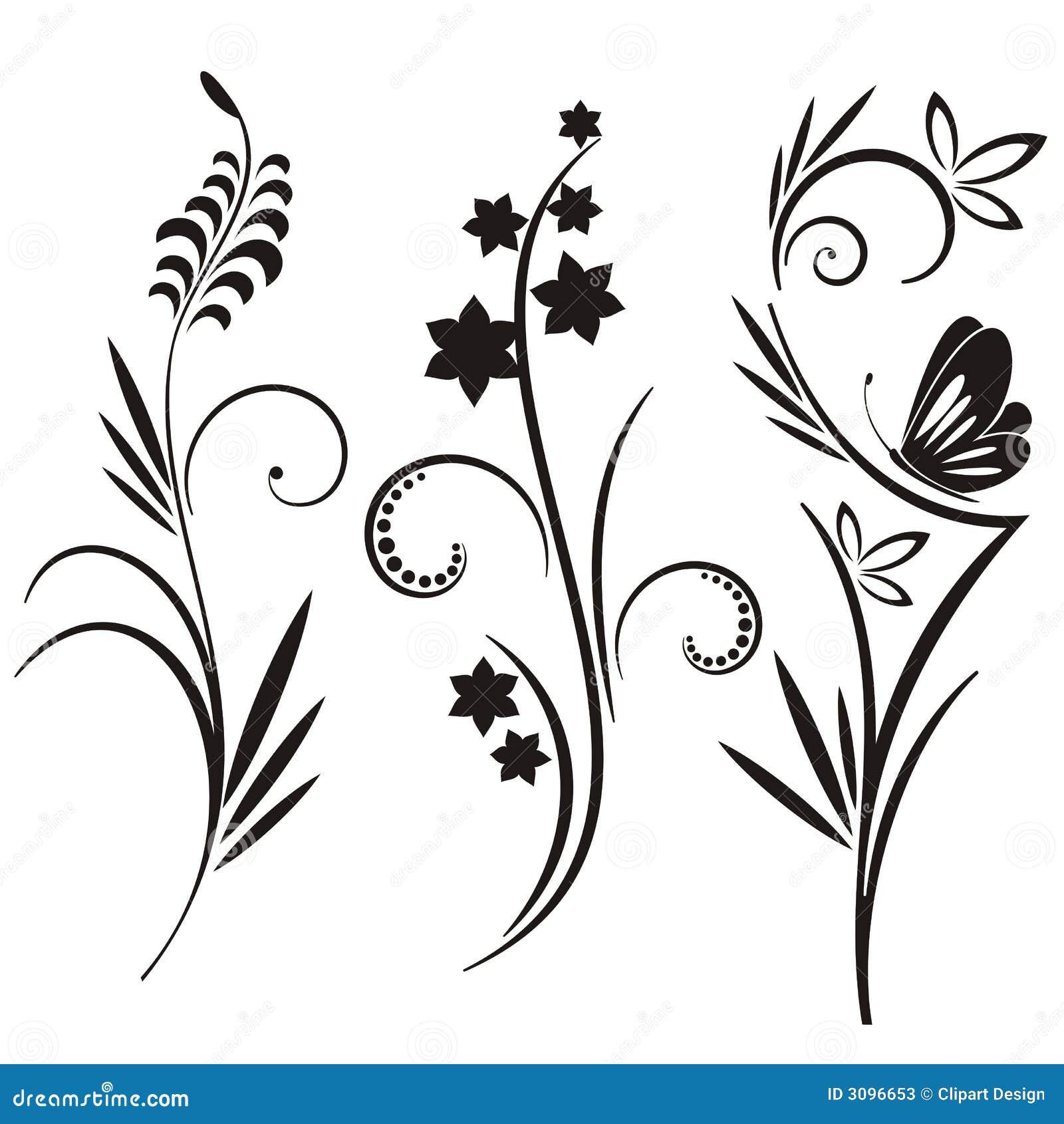 3可用的设计eps文件花卉日本人集合样式