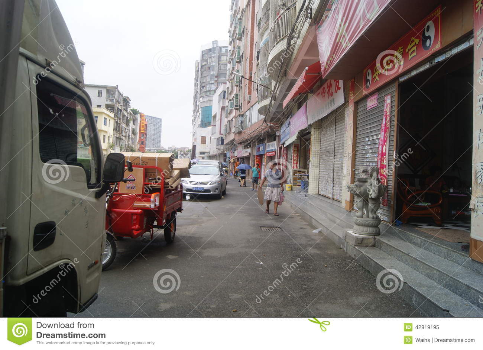 中国:街道风景 编辑类图片