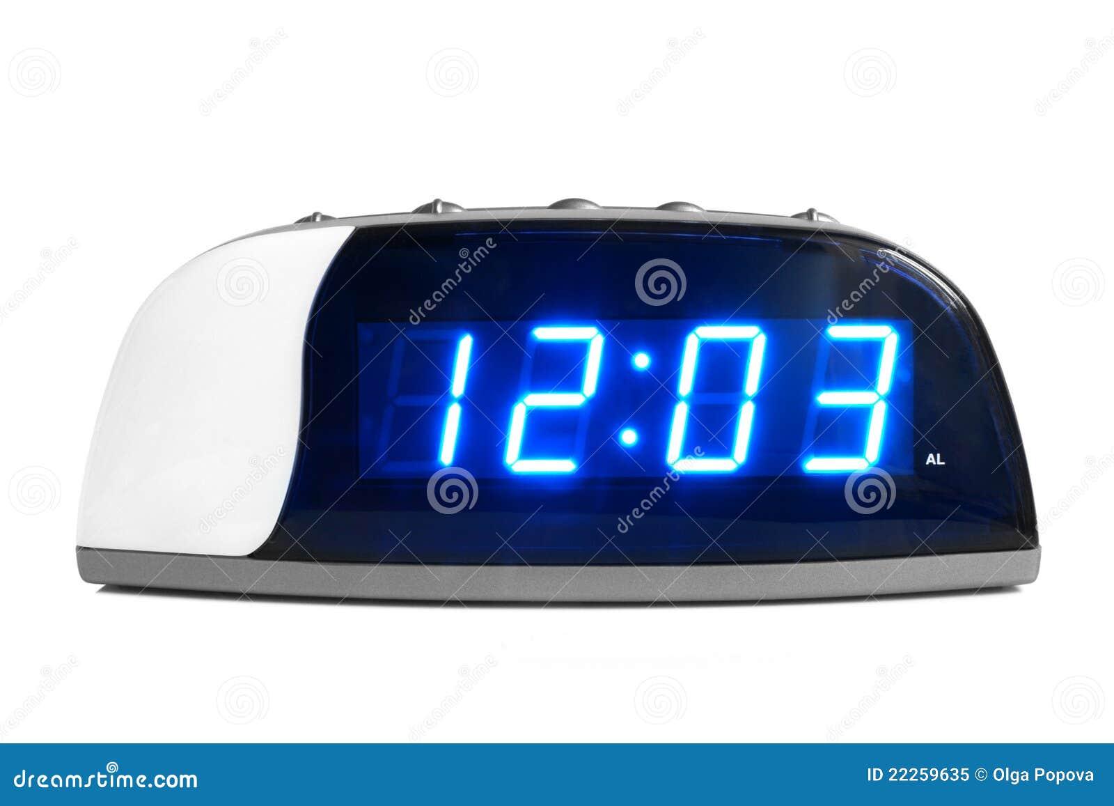 背景时钟数字式电子白色