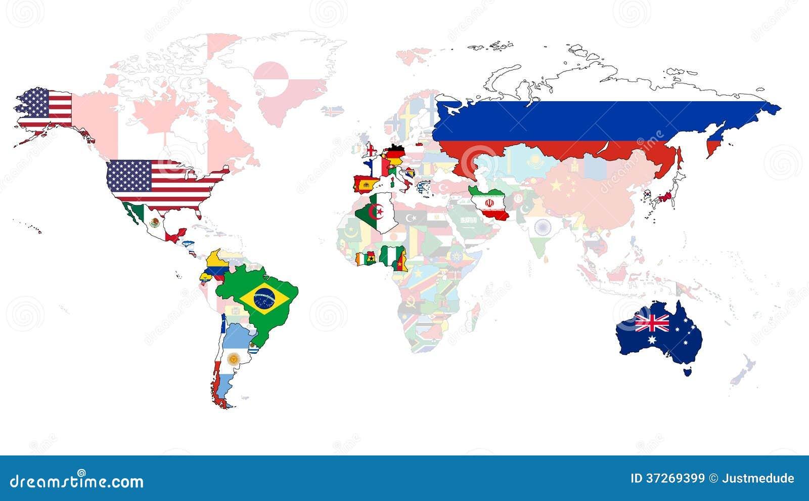 2014年世界杯旗子地图