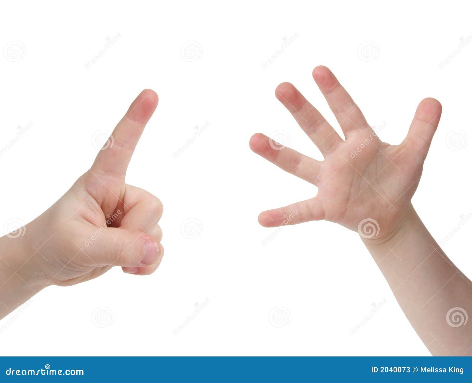 背景儿童手指现有量一点六白色
