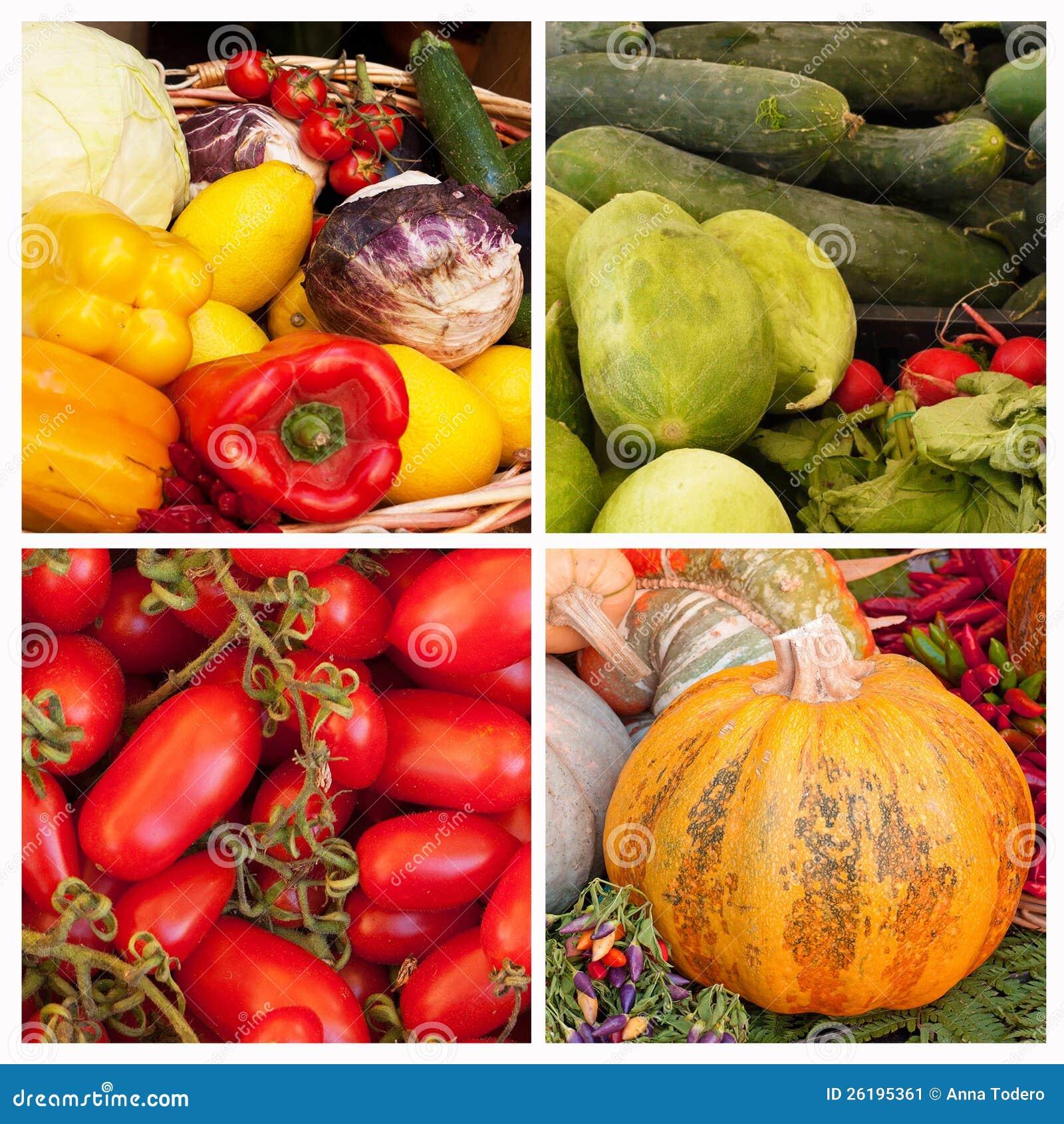 蔬菜拼贴画 库存图片