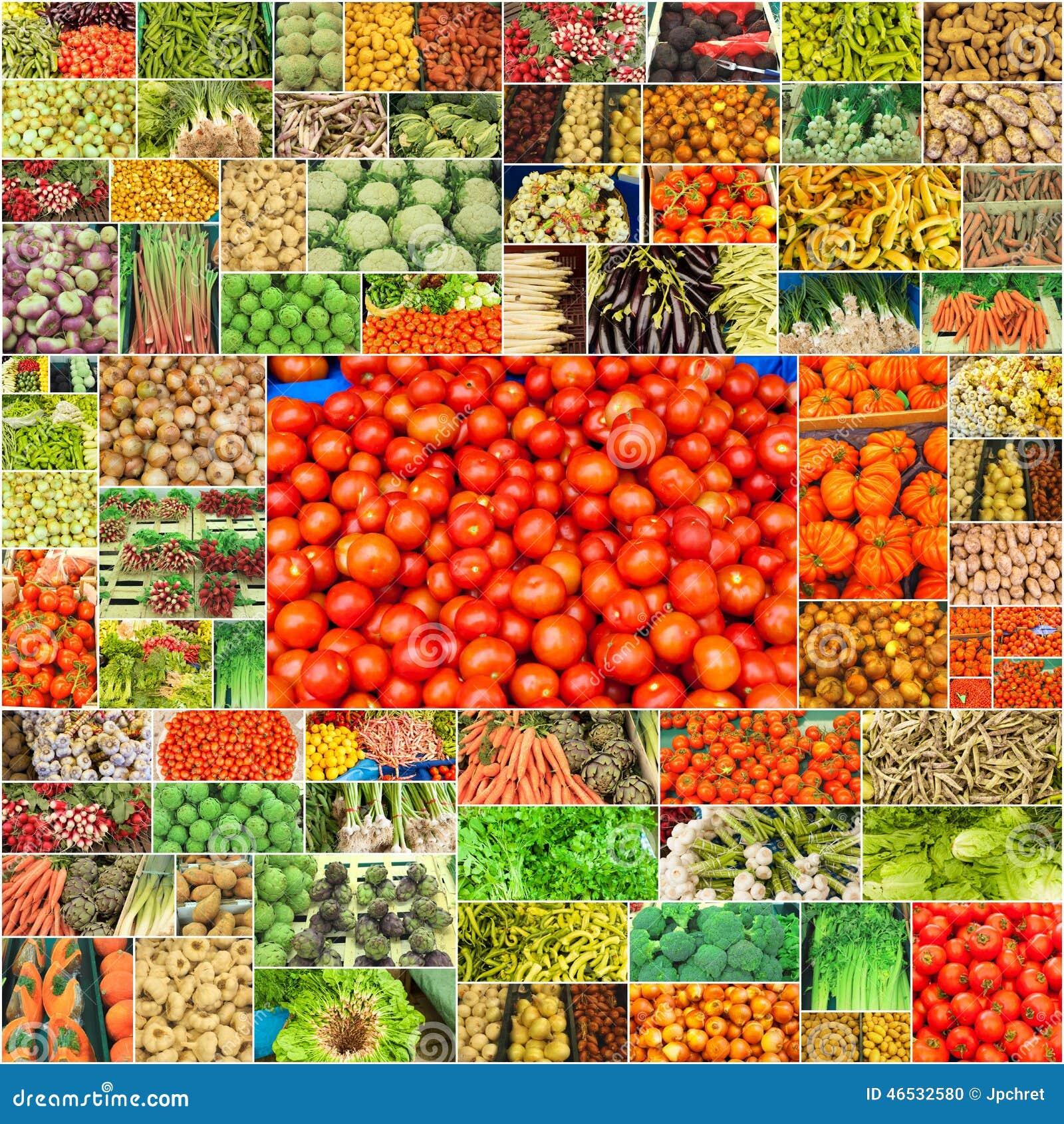 蔬菜拼贴画 库存照片