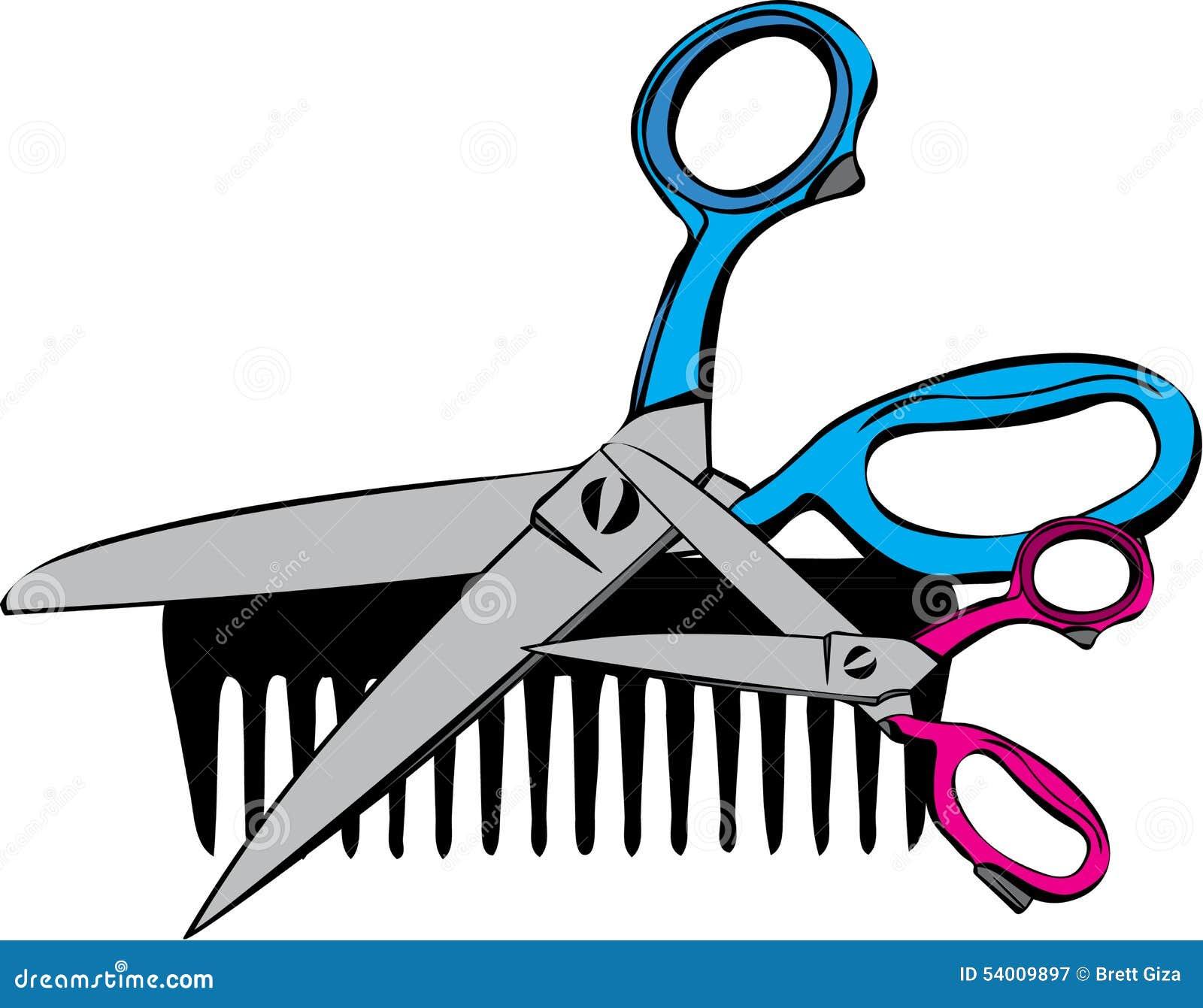 梳子&剪刀图片